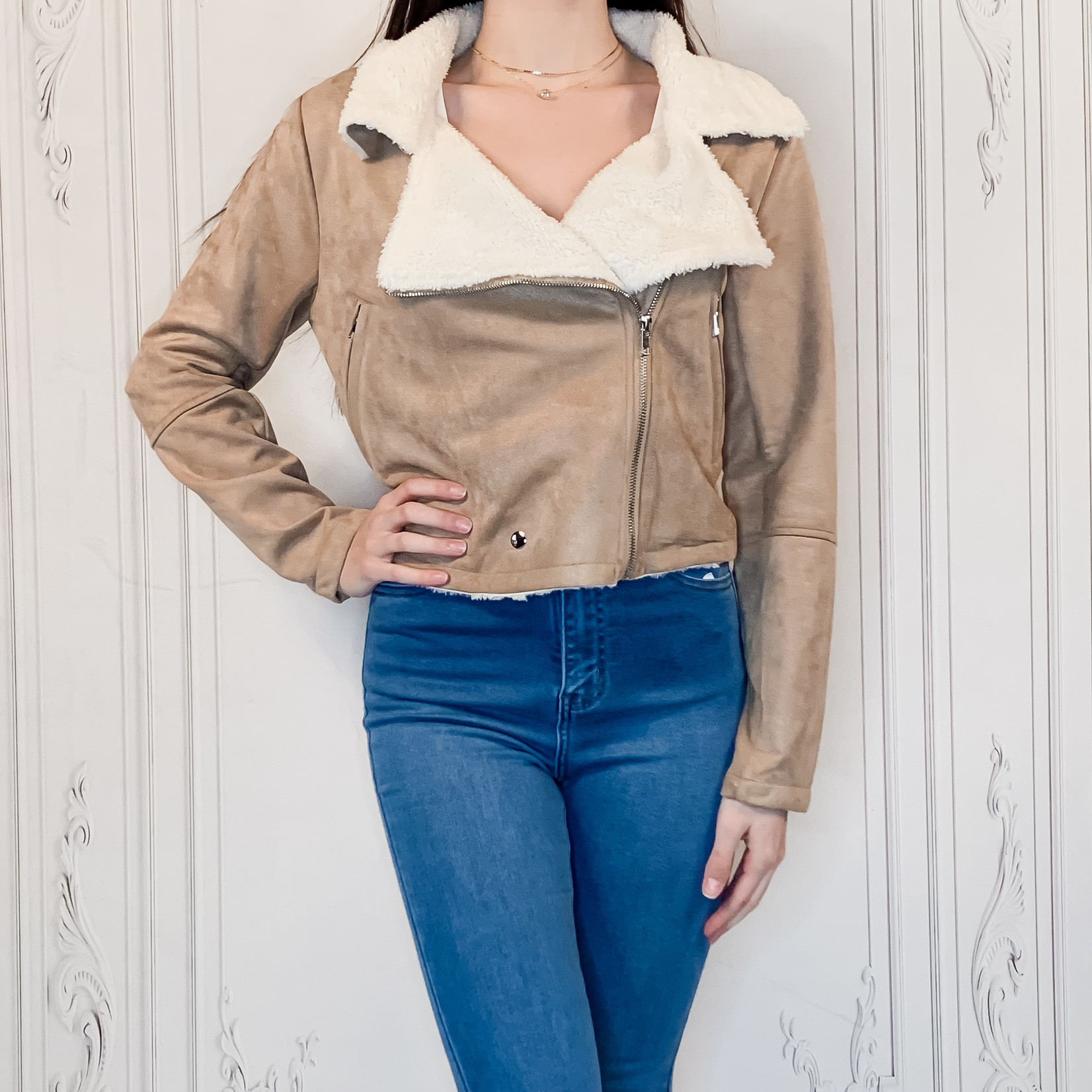 Helena sherpa trim jacket
