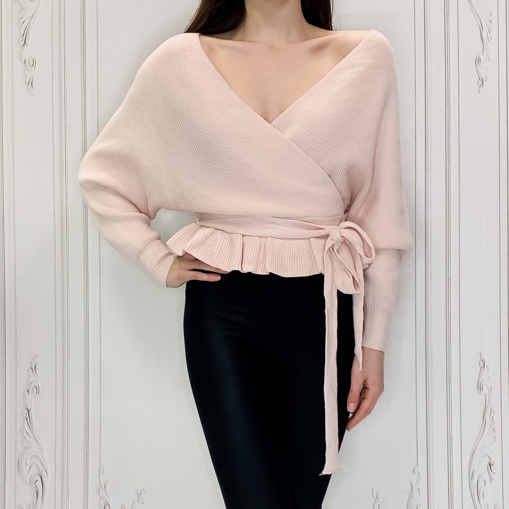 Olivia peplum sweater