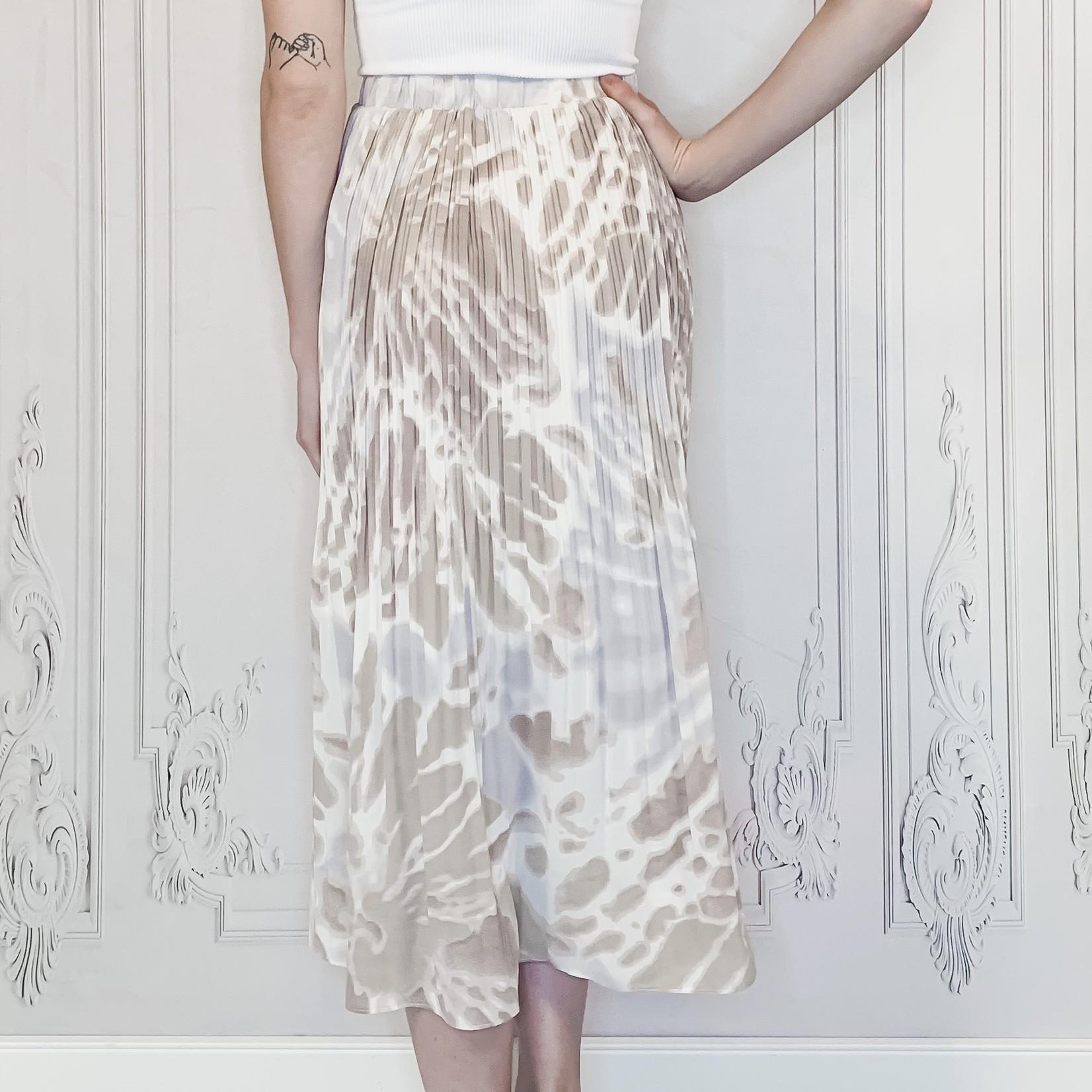 Stella pleated tie dye midi skirt