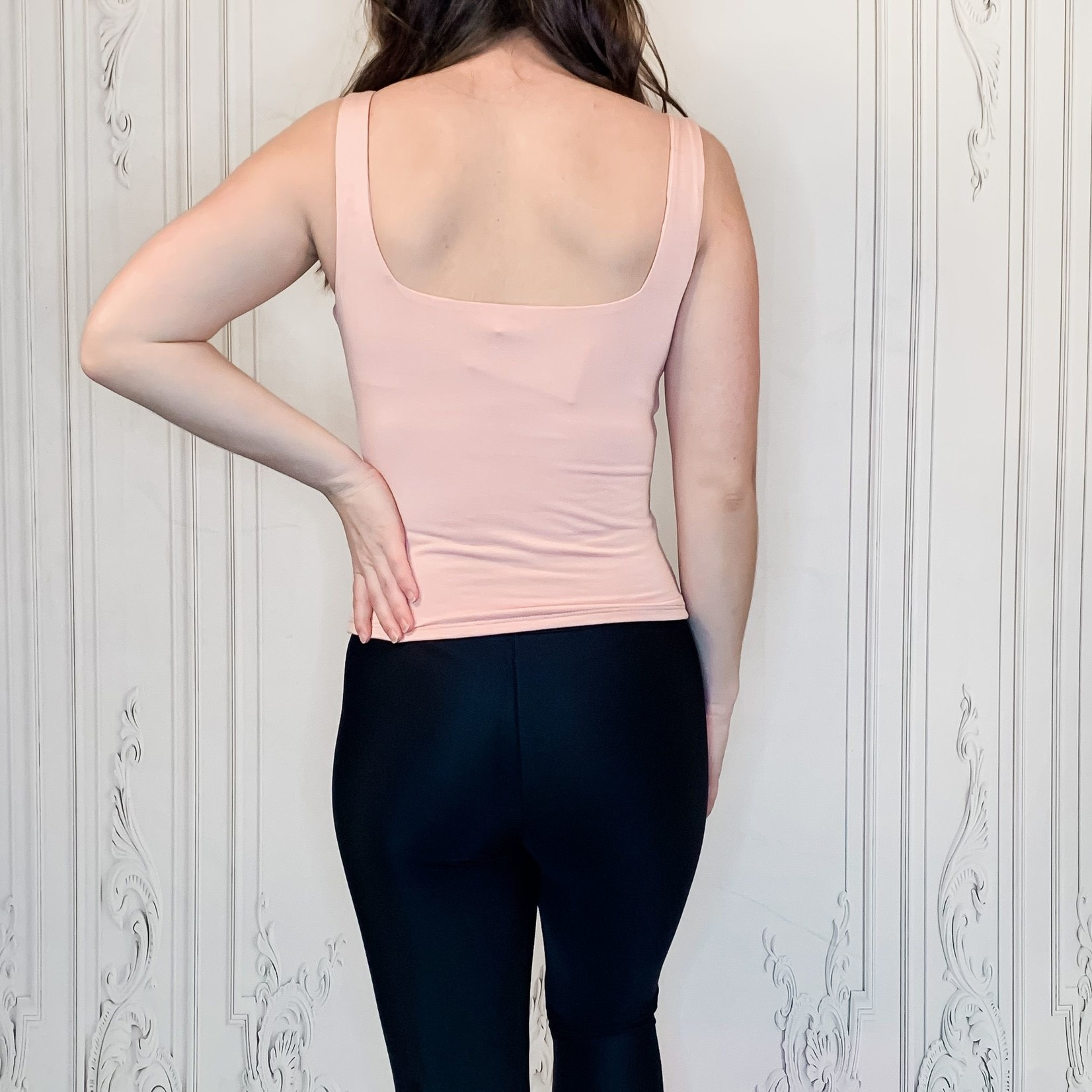 Willow square neck crop tank