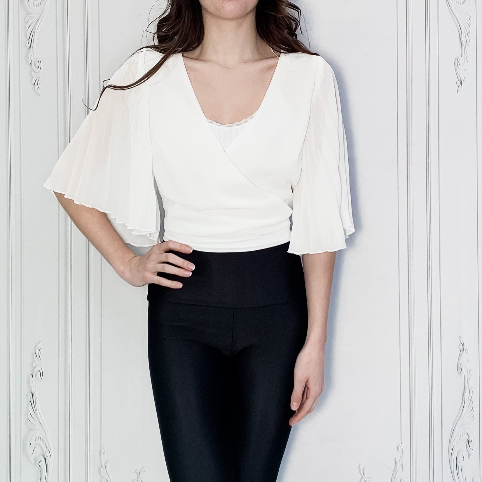 Ivy open back pleated blouse