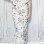 marble midi skirt