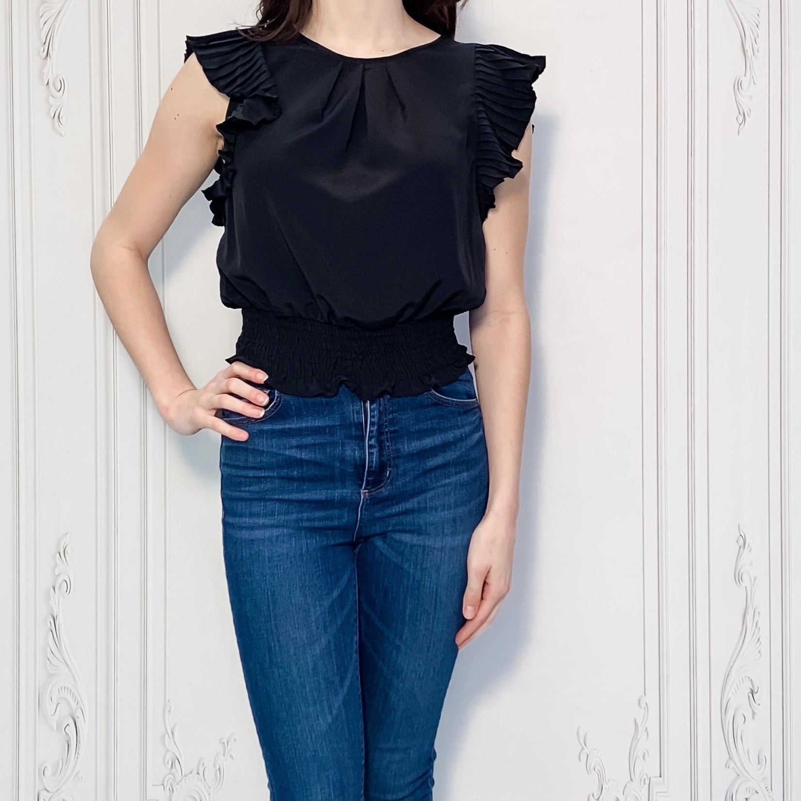 Ireland ruffle sleeve top
