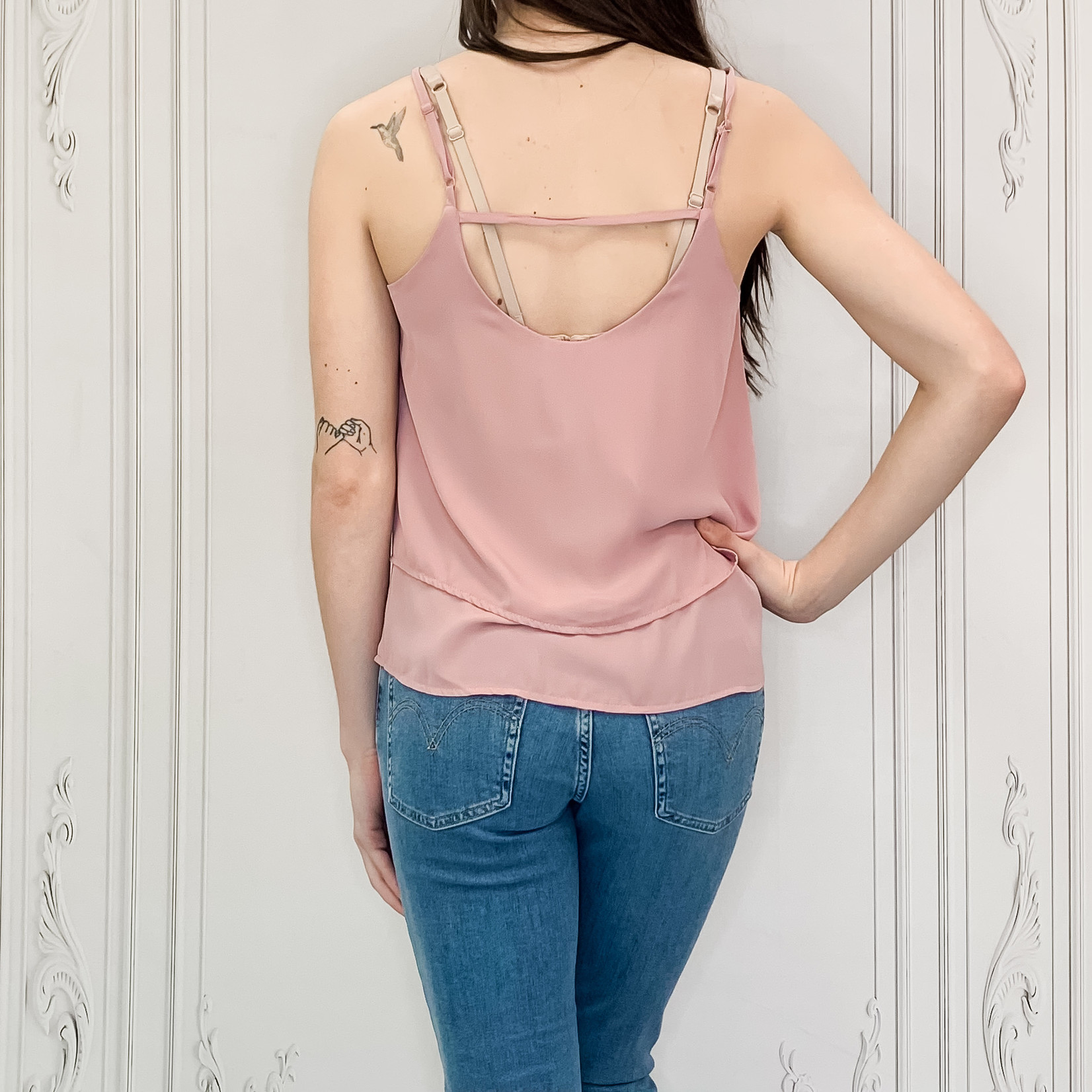 double tiered cami top