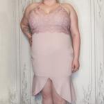 Belinda curvy crochet trim dress
