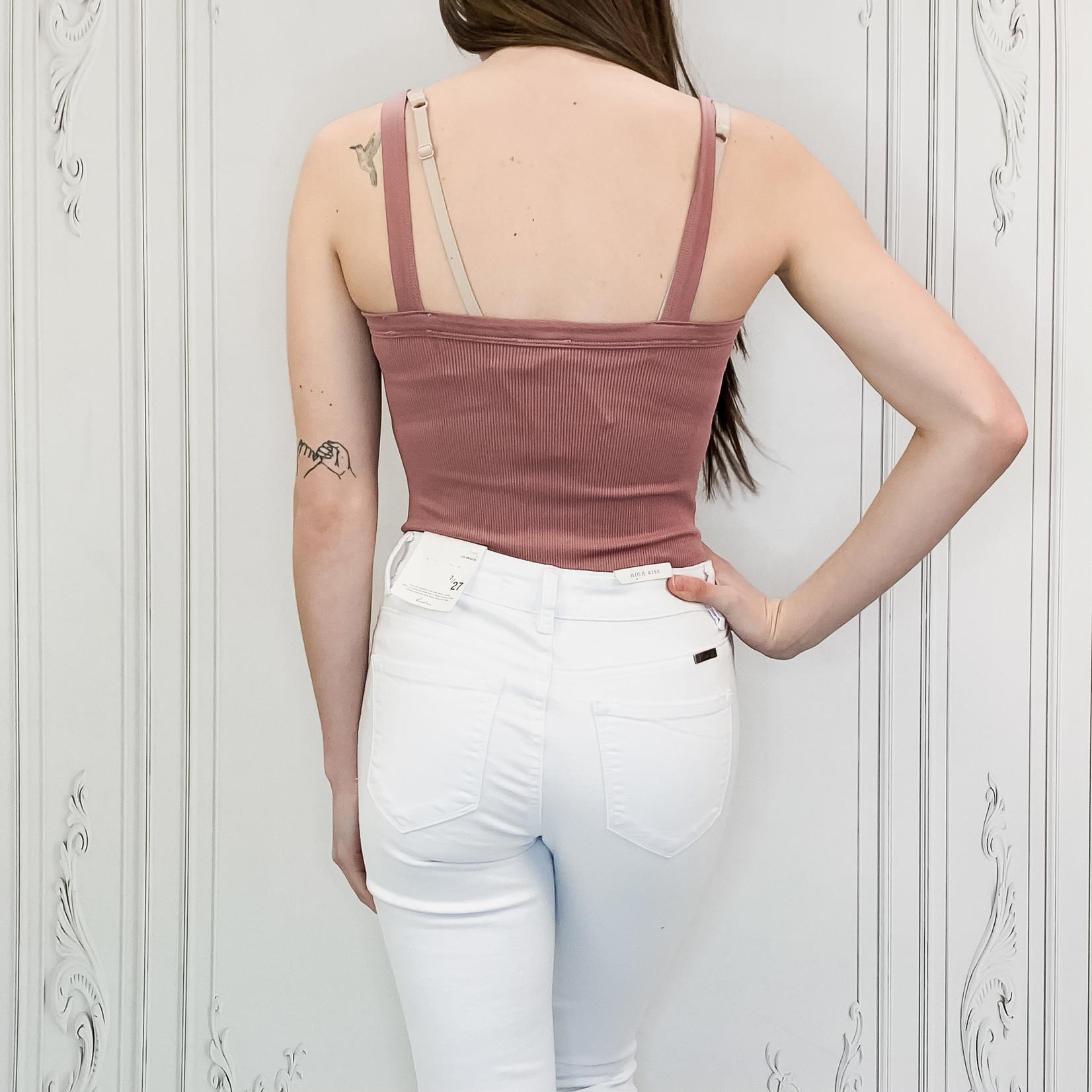 Daphne ribbed cami bodysuit
