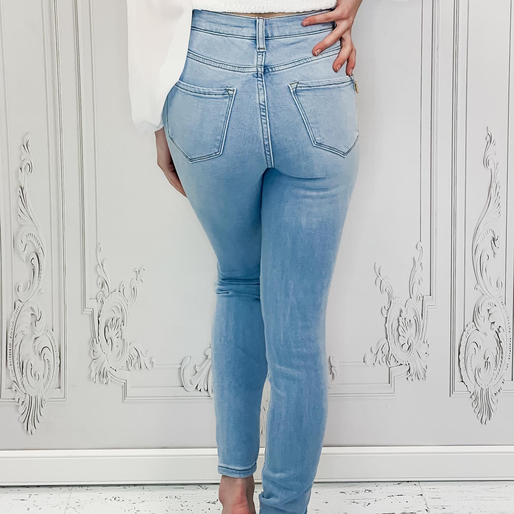 Valentina high rise distressed jeans