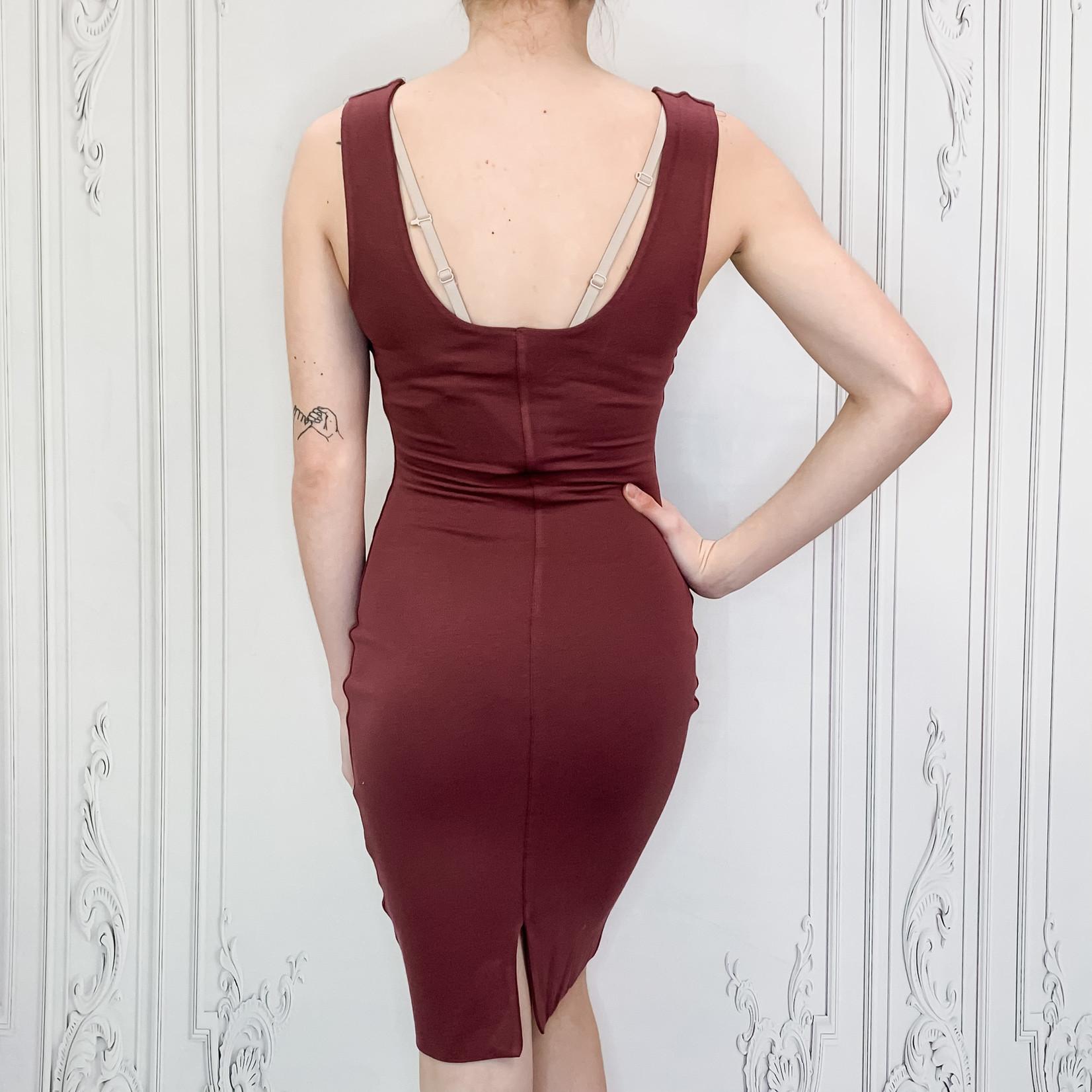 Sarah double lined midi dress