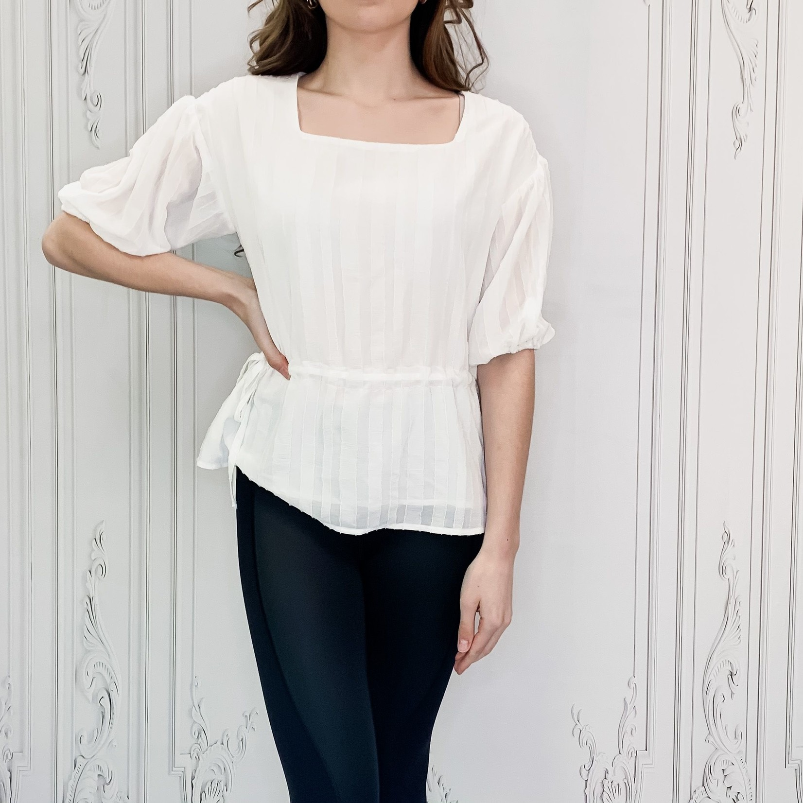 Grace gathered side top