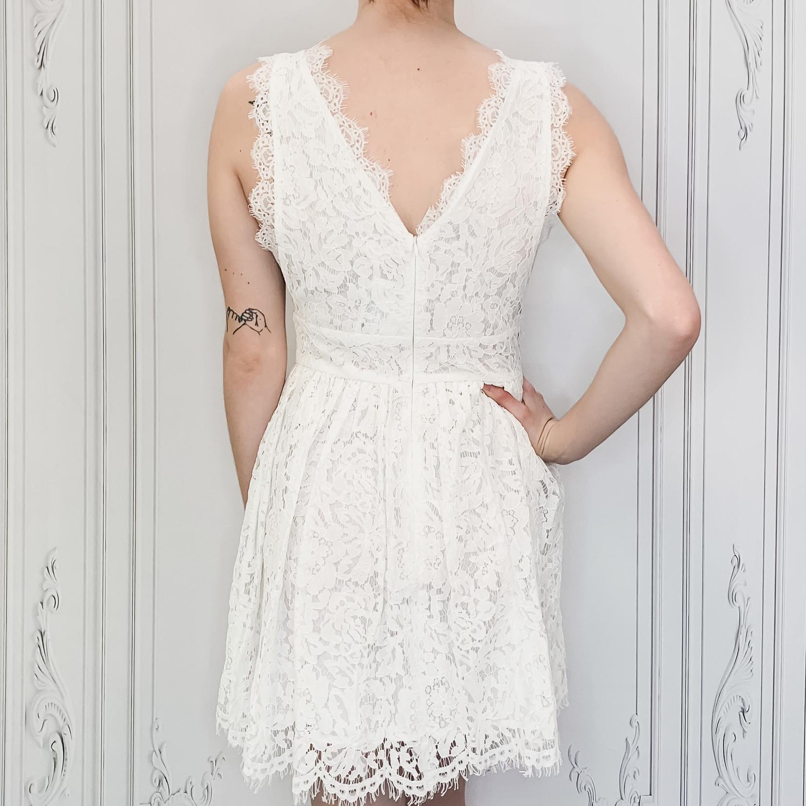 Jules lace fit & flare dress