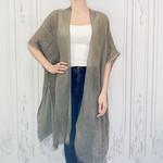 layla sequin trim kimono