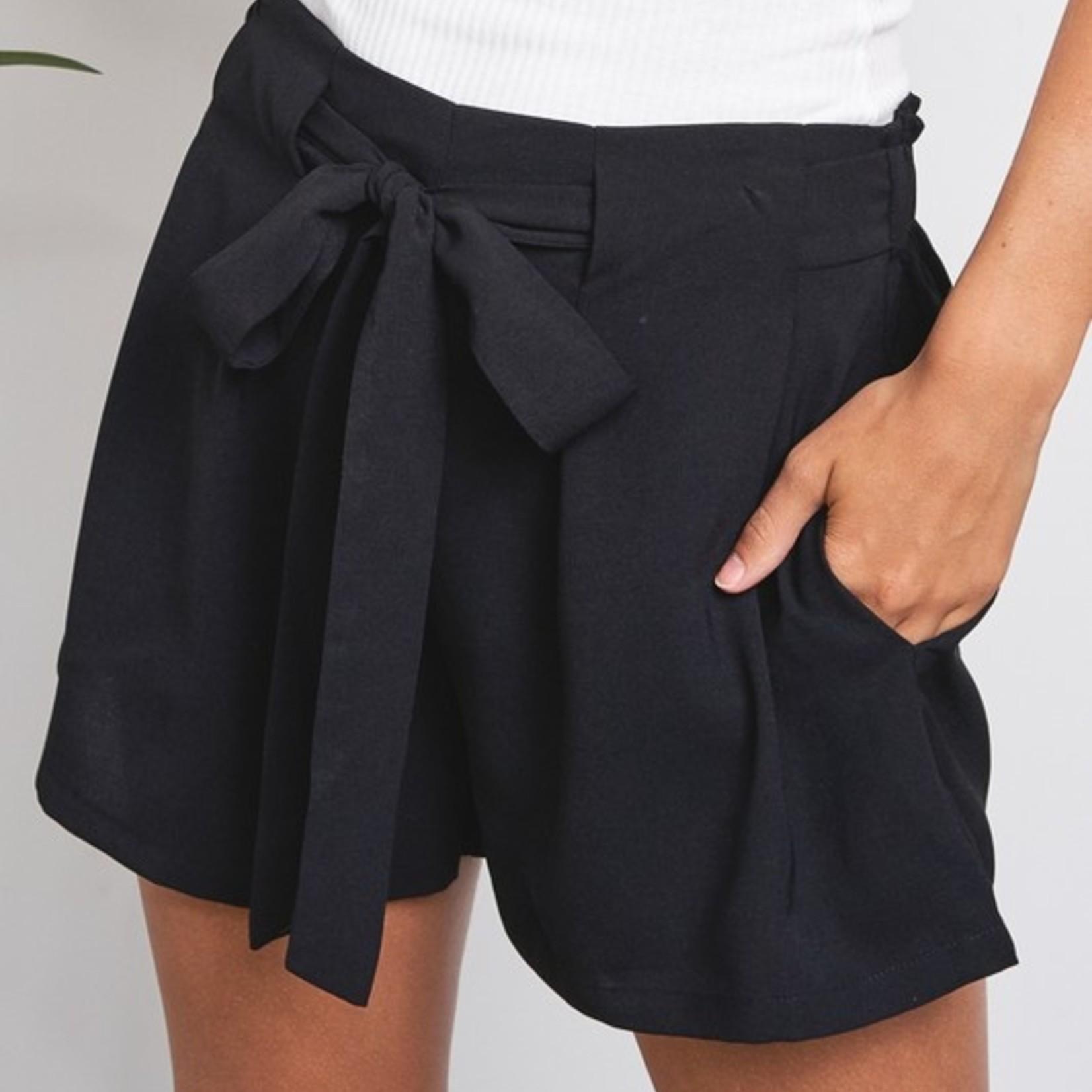 Linsey flowy tie shorts