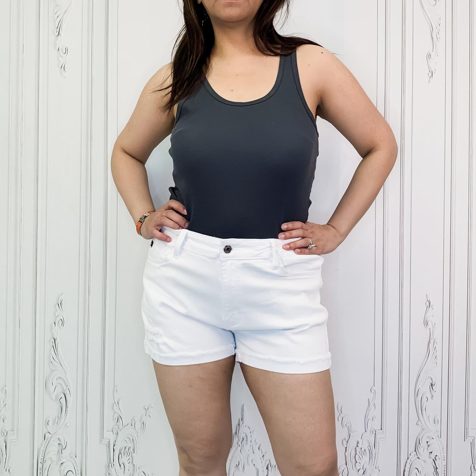 curvy high rise shorts