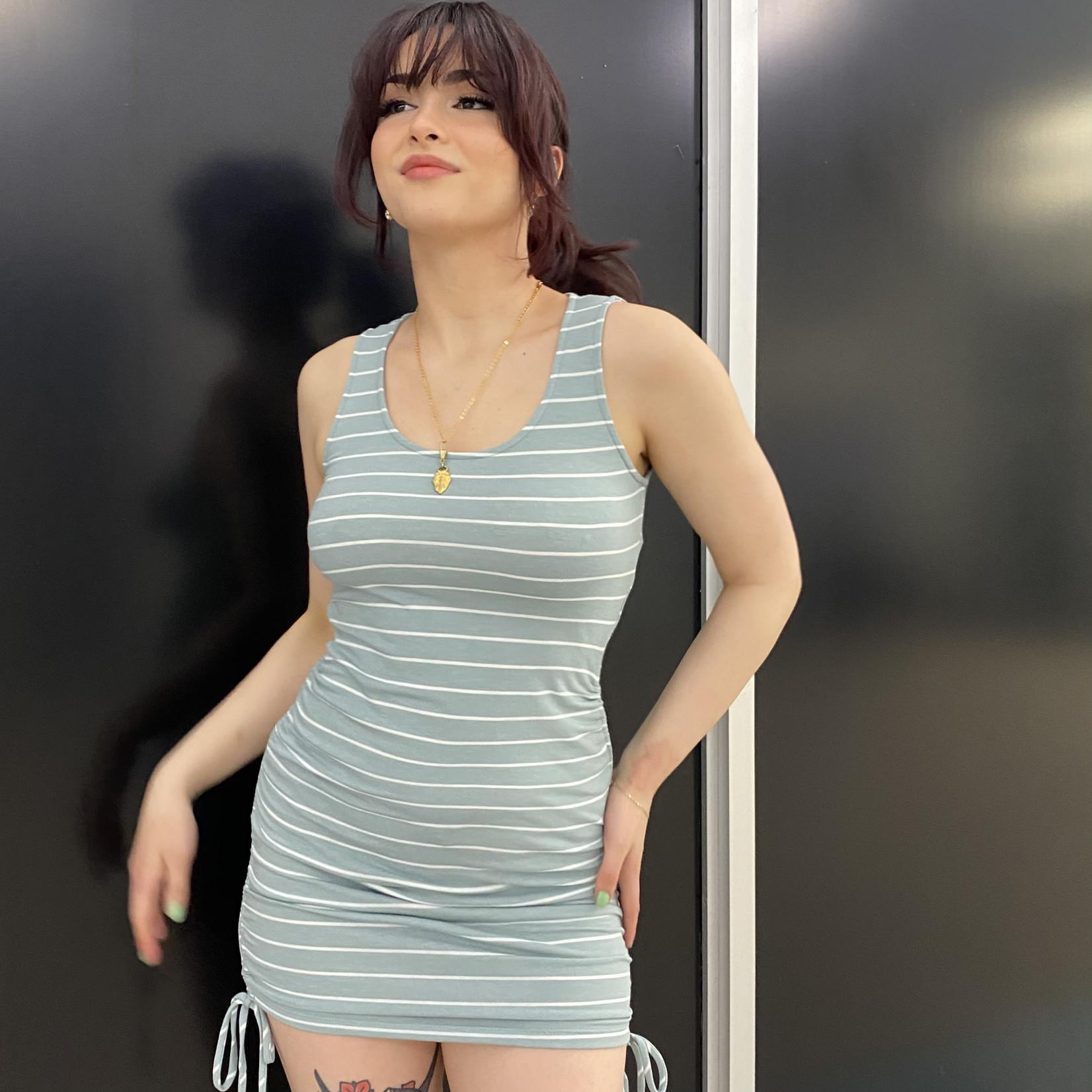 Gracie striped cinched side dress