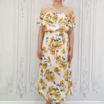 Faith off shldr floral dress