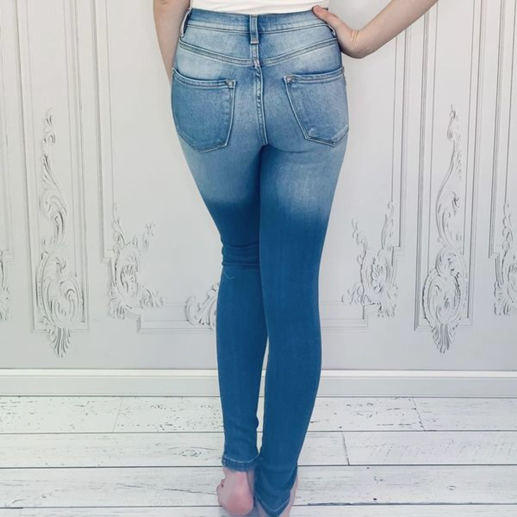 Violet high rise  distressed jeans