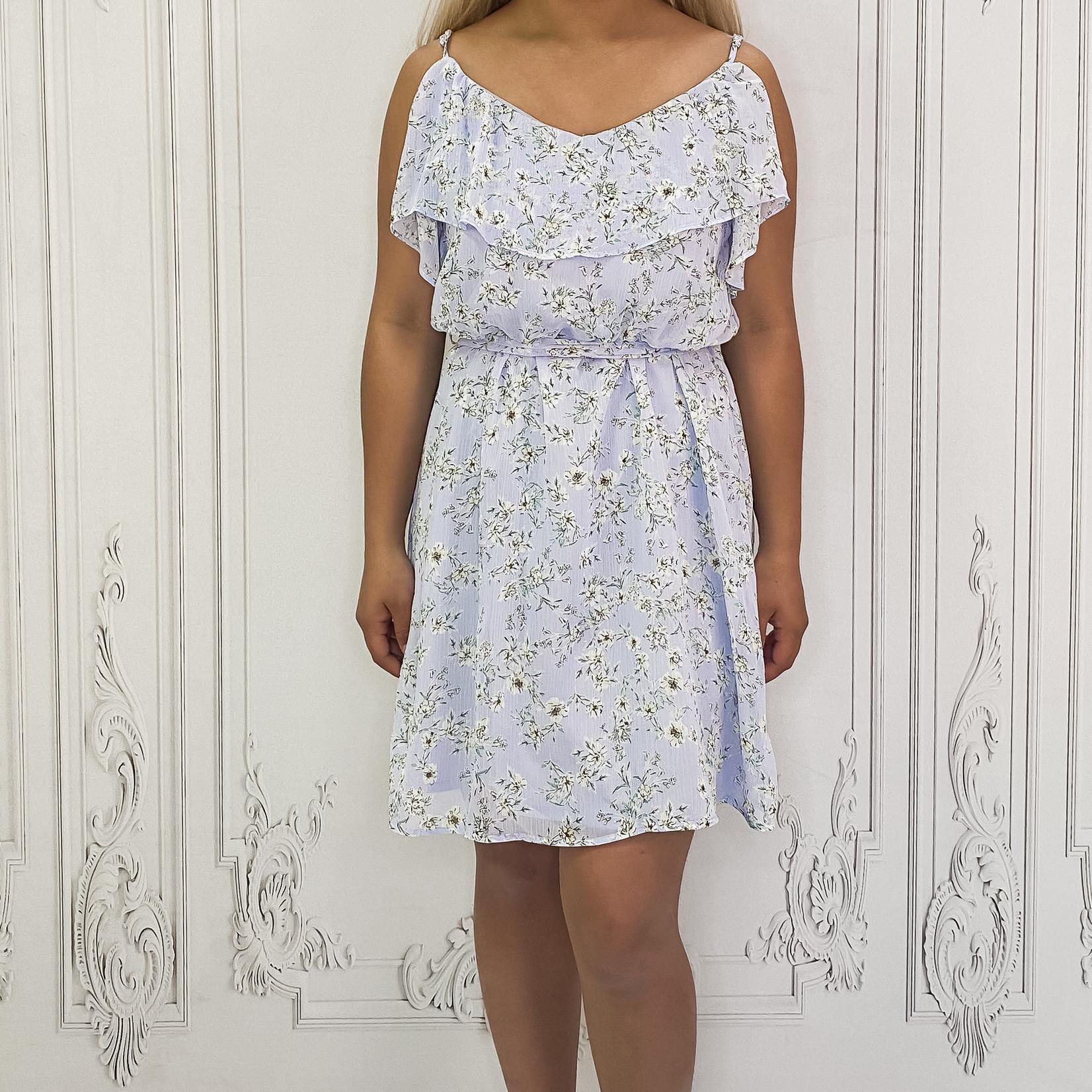 Gwen ruffle trim dress
