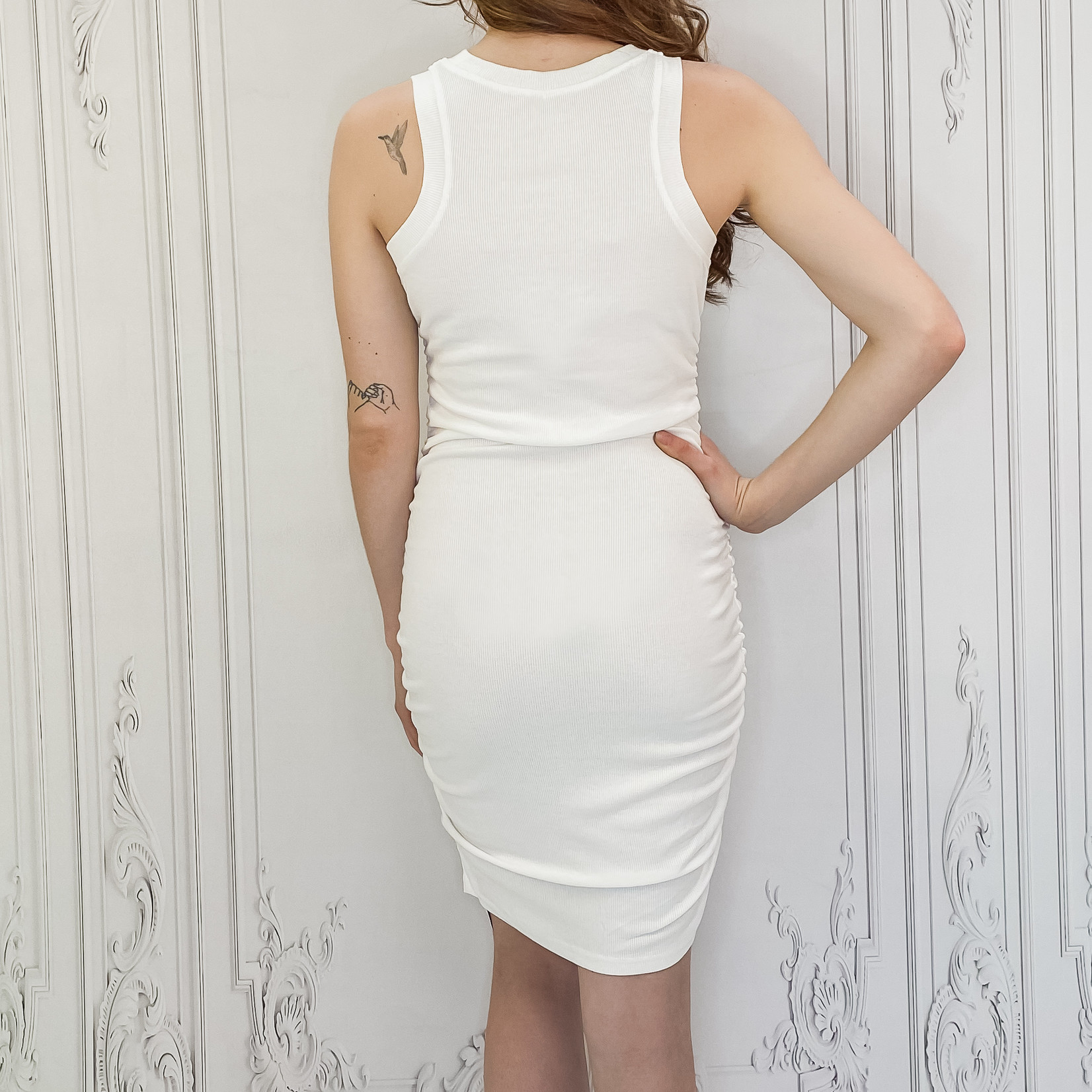 Shayla cinched side tank dress