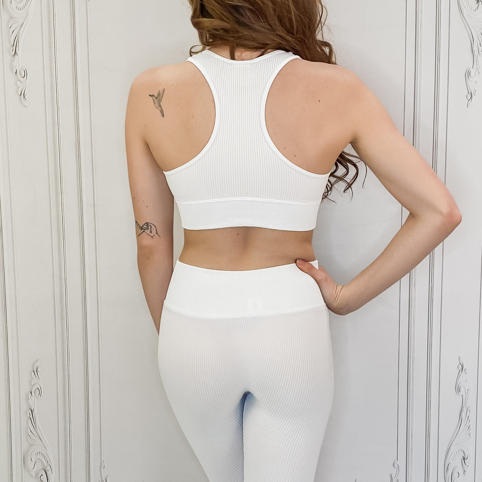 Demi ribbed biker shorts