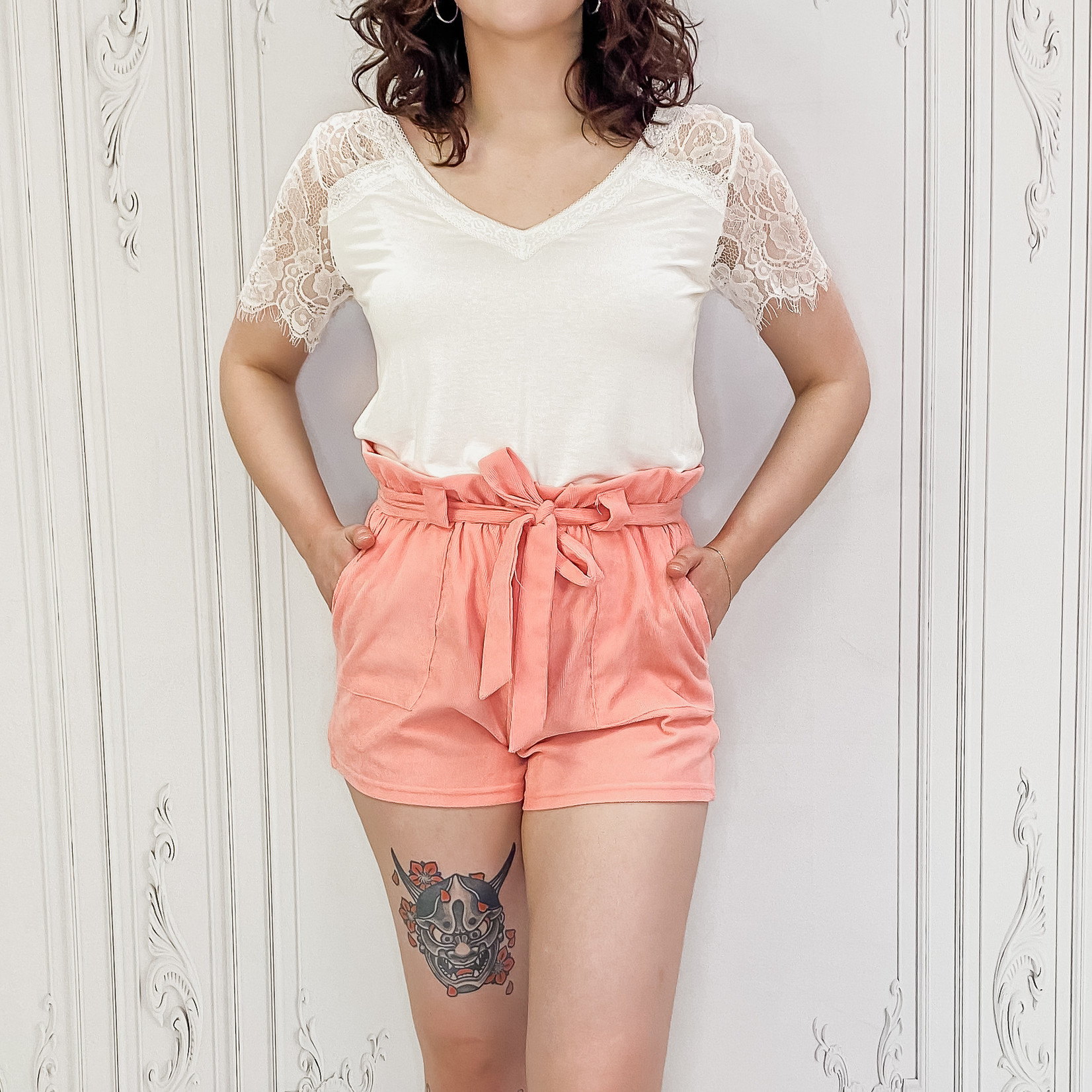 Sylvie lace sleeve top