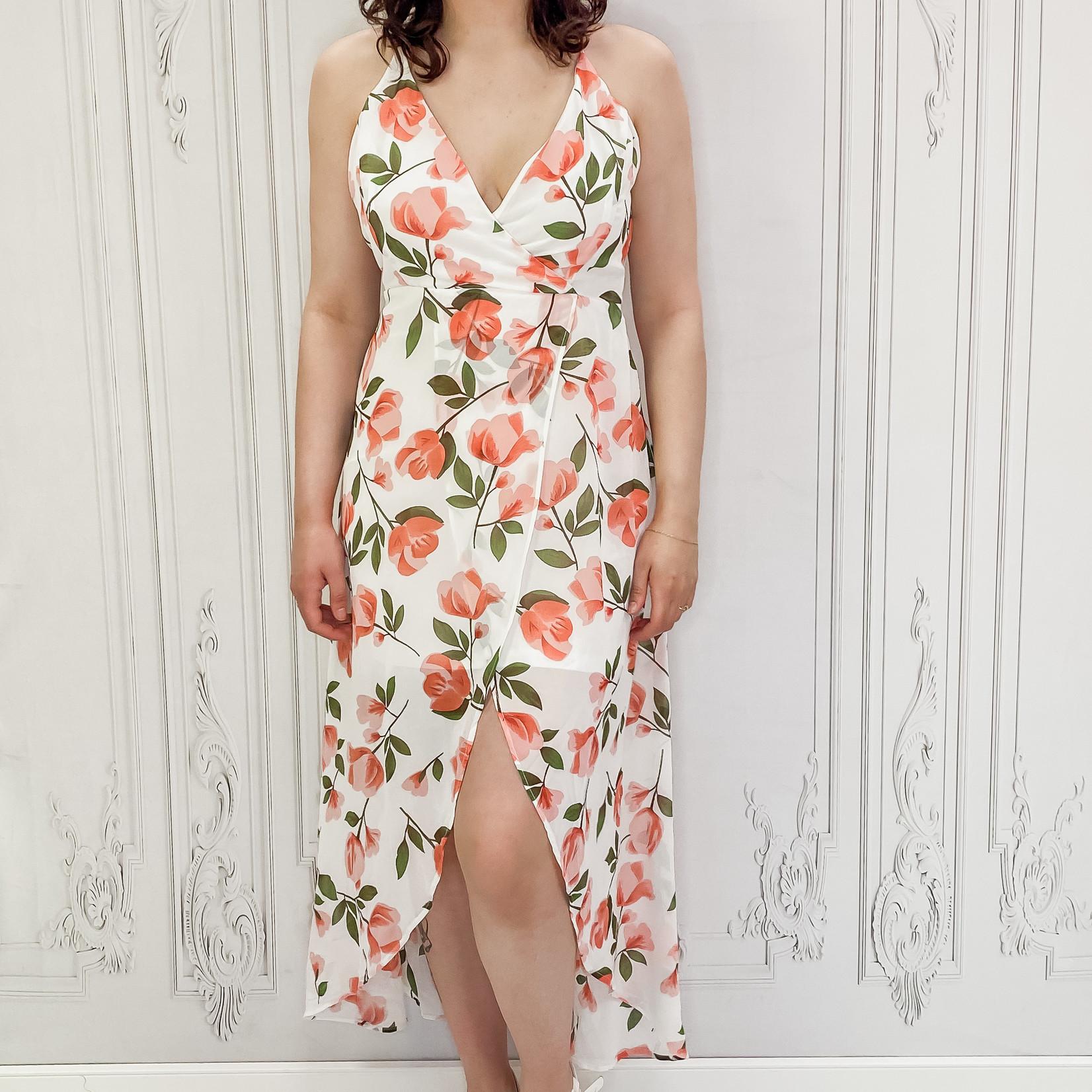 Abigail  floral high low maxi dress