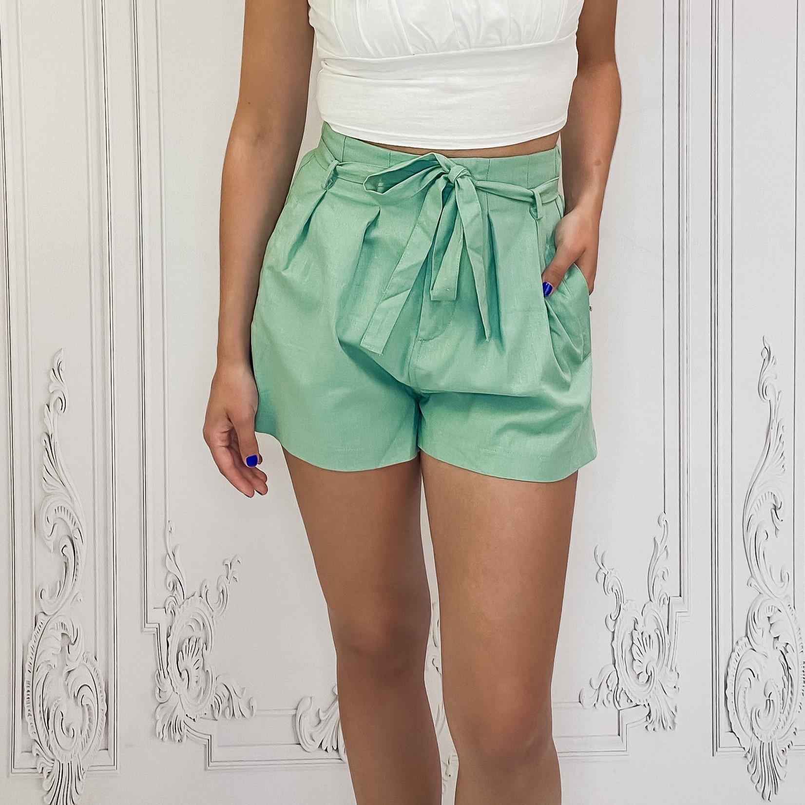 Siya tie waist shorts