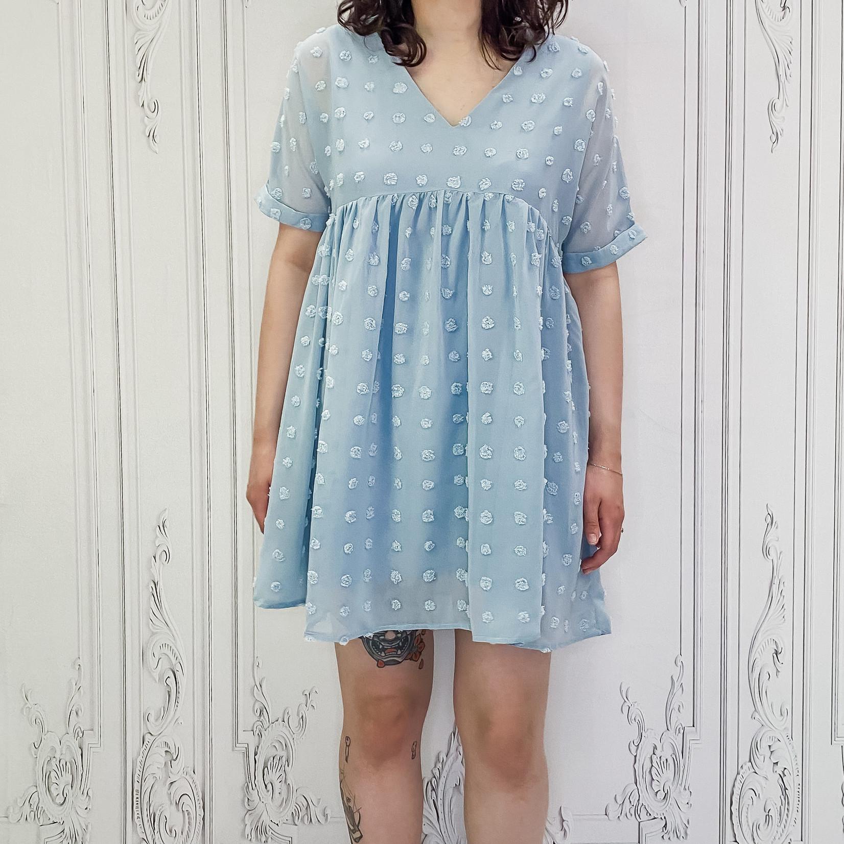 Syli raised dot babydoll dress
