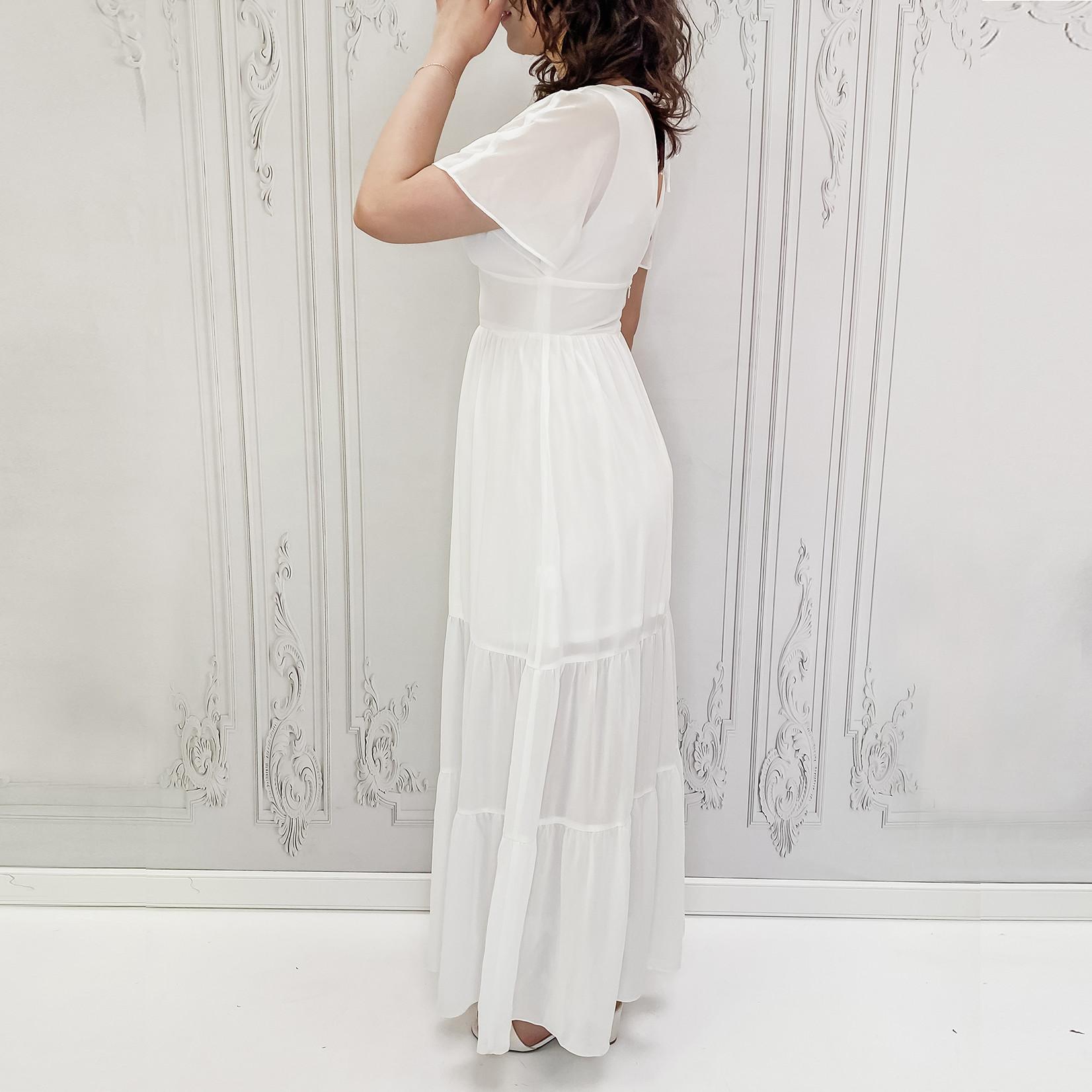 Amalee empire waist maxi dress