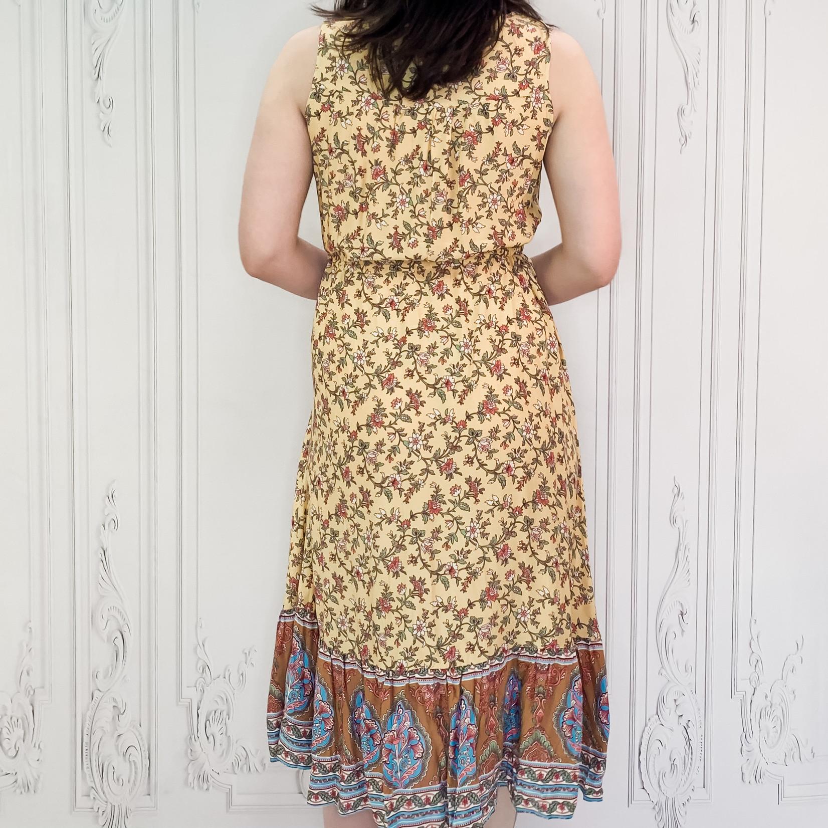 Simone boho tie waist midi dress