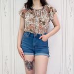 Soleil boho print blouse