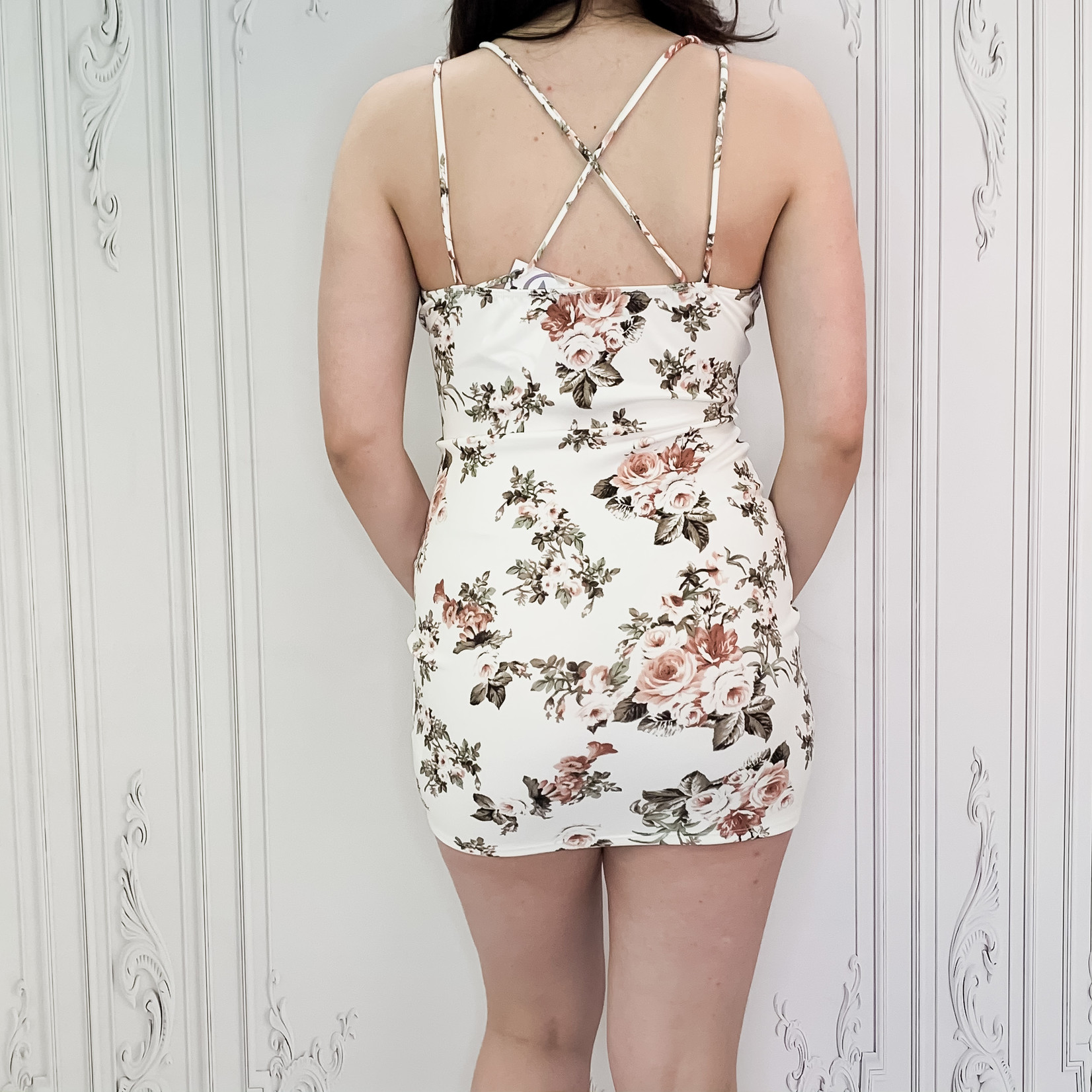 Ivie floral fitted dress