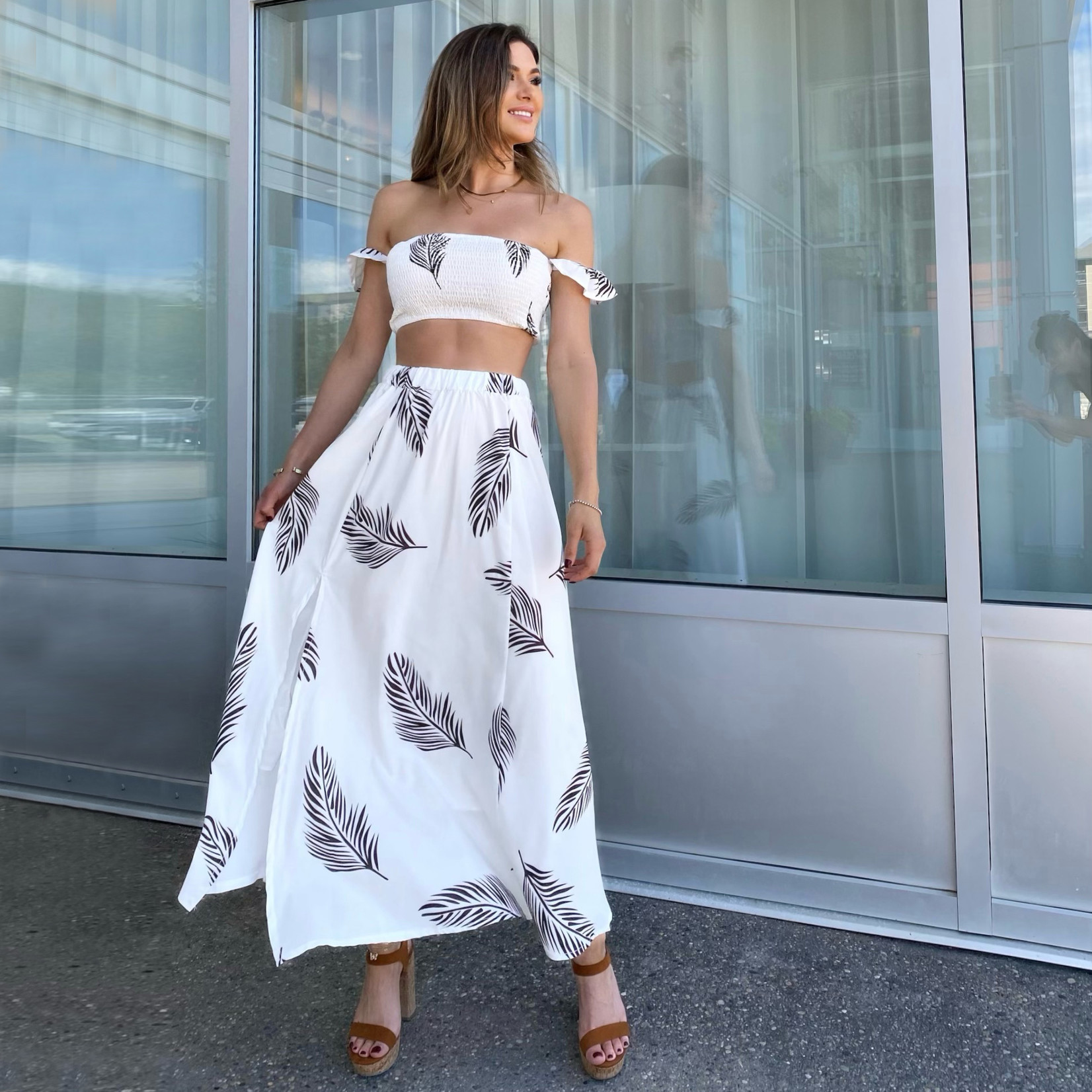 Tiana 2pc top & skirt set