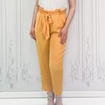 Honey side zip paperbag pants