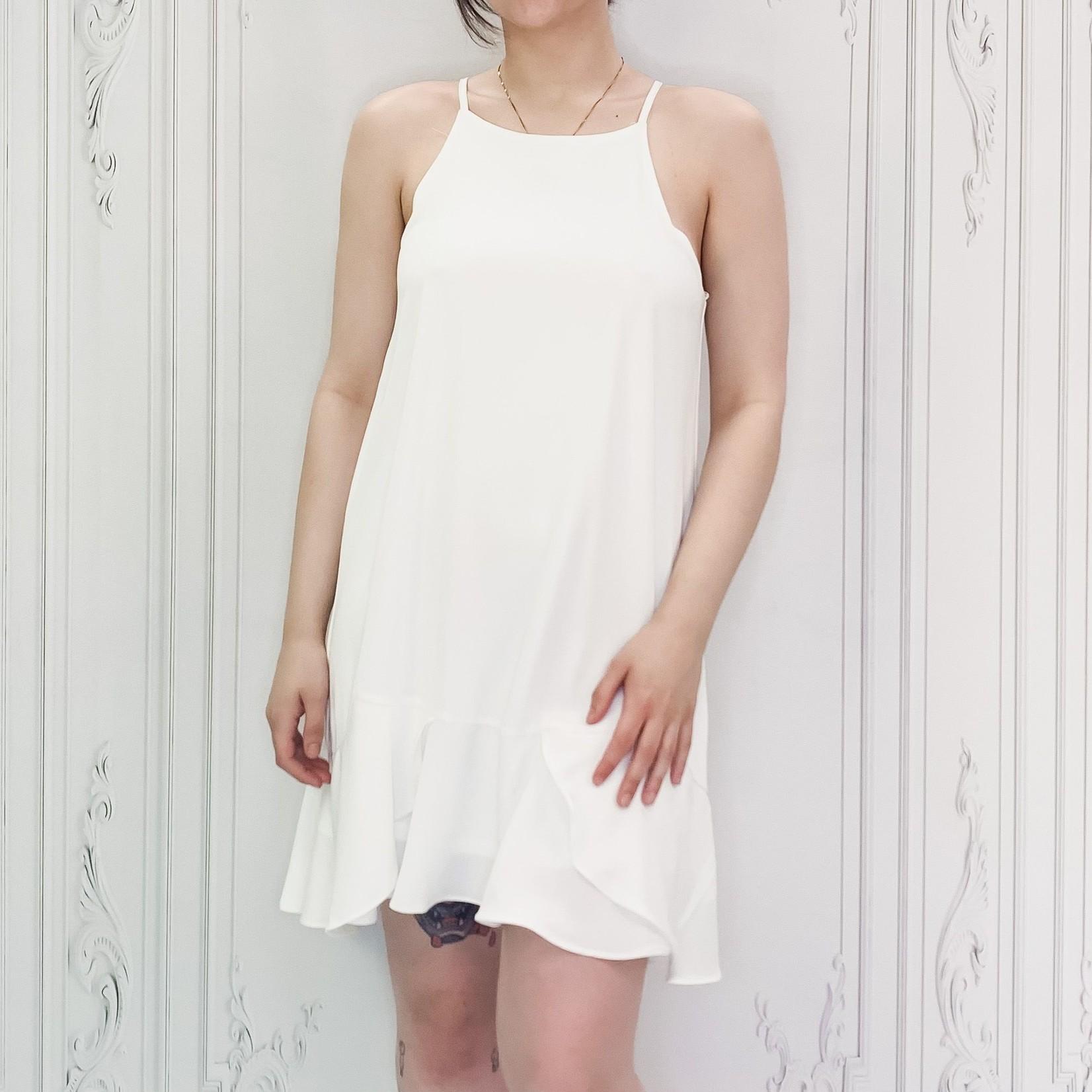 flounce wrap dress