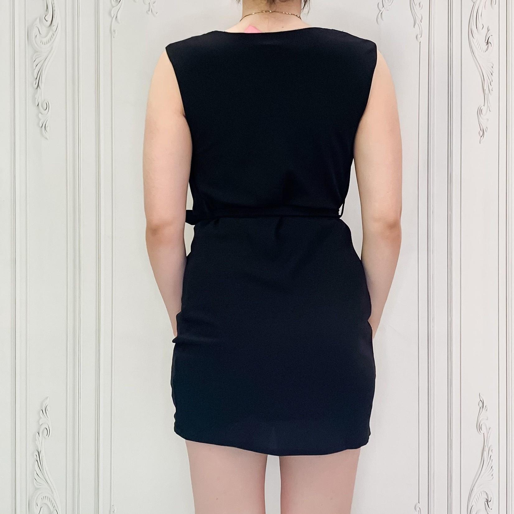 cowl neck dress w/ sash