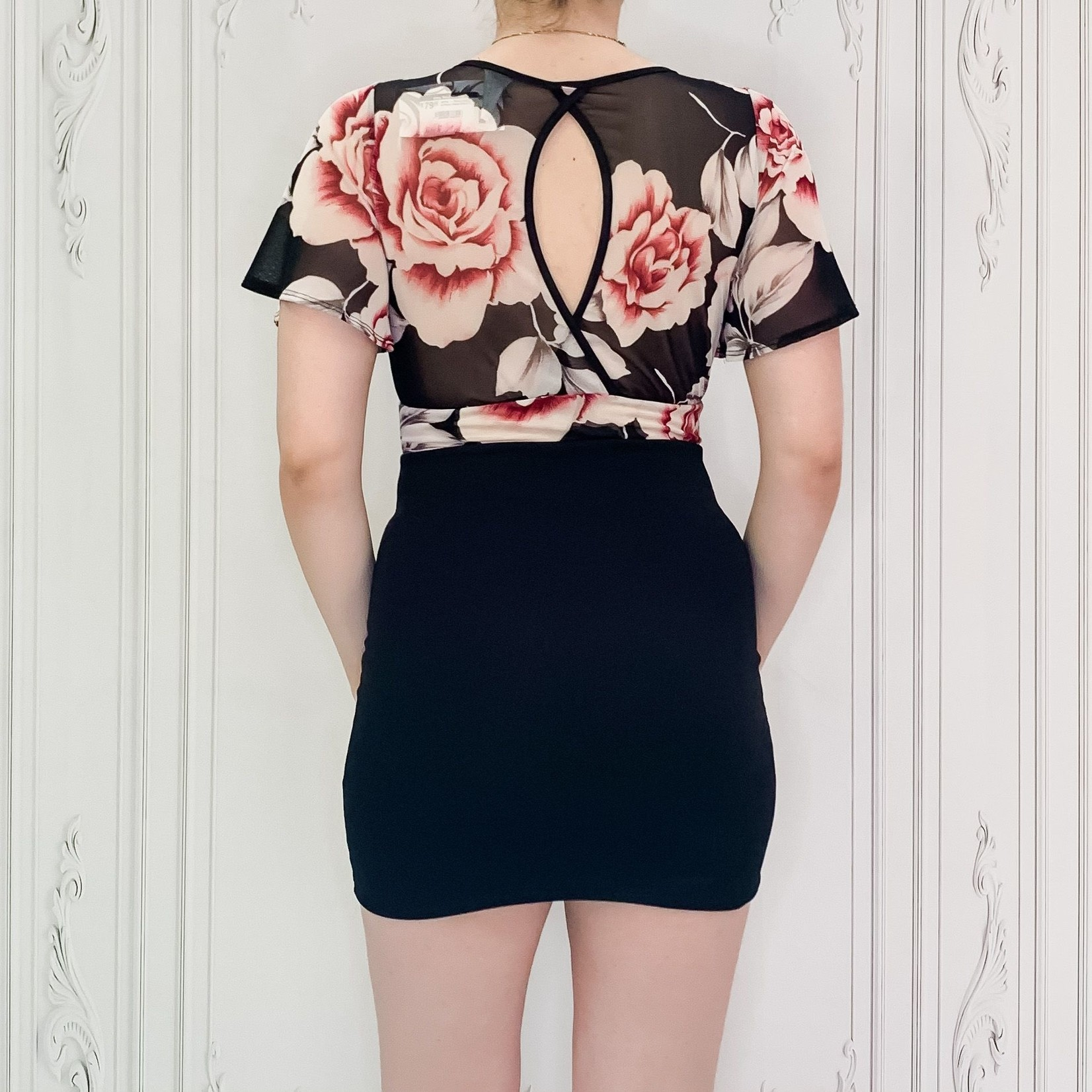 Izzy floral fitted bottom dress