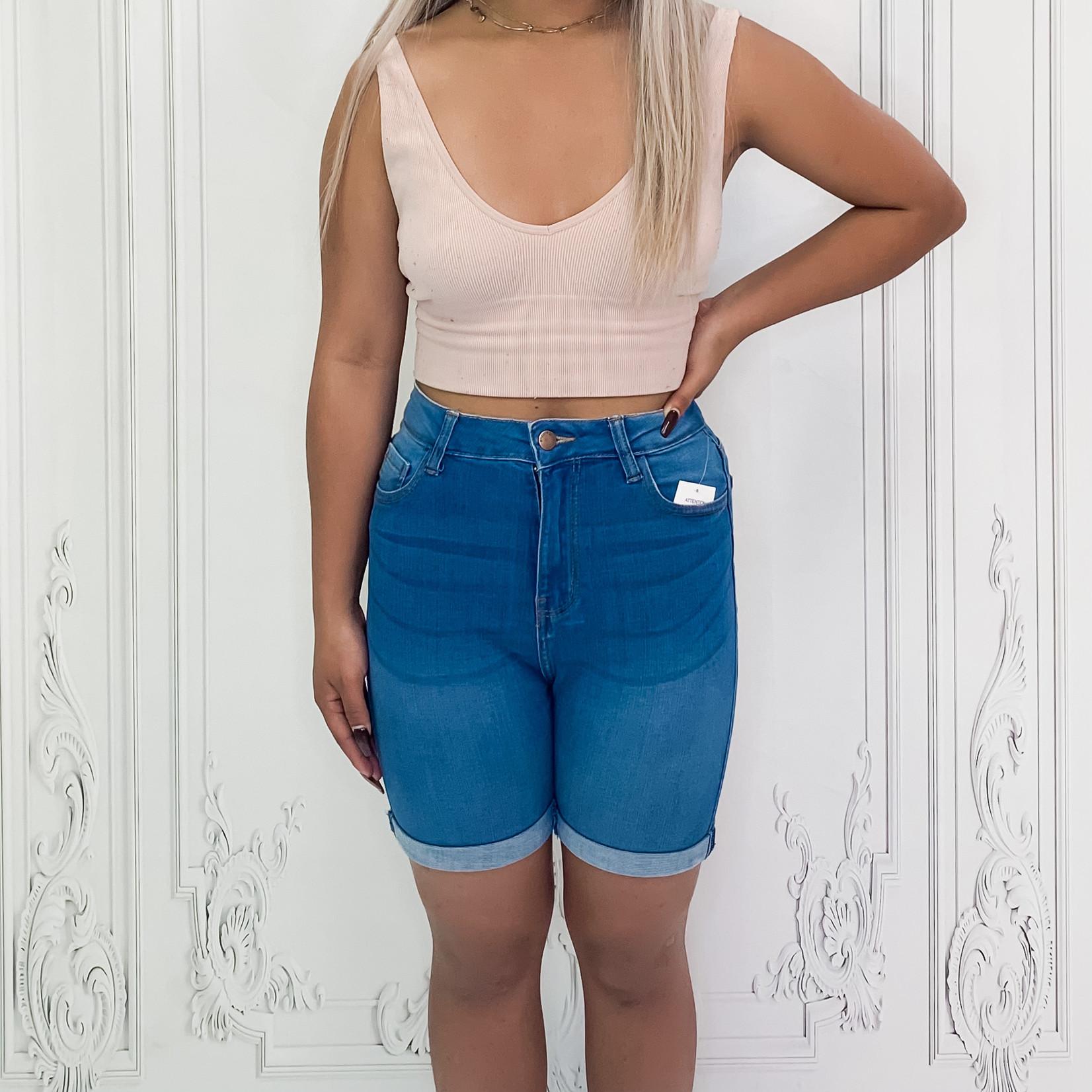 Evie midi rolled cuff shorts
