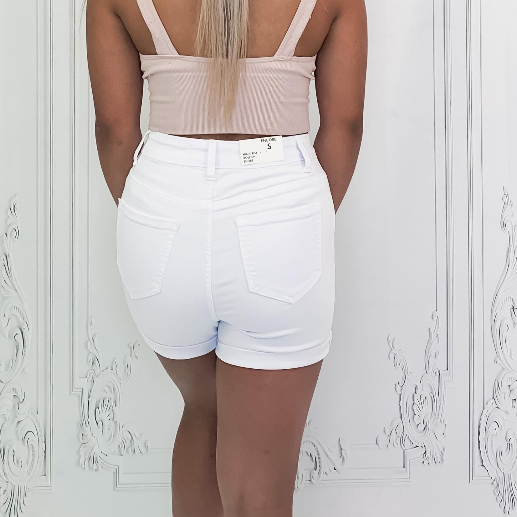 Elsa classic high rise roll cuff shorts