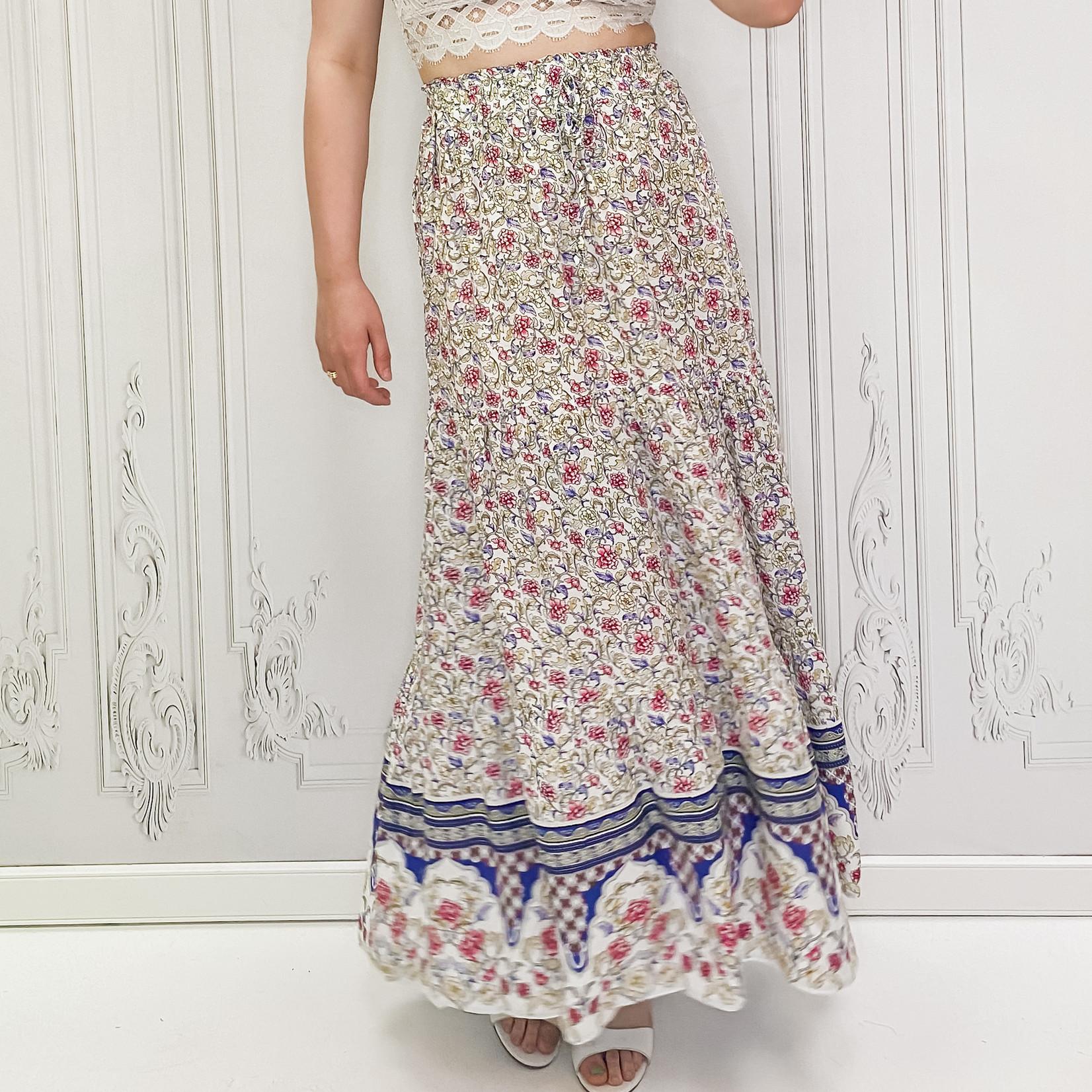 sherri printed aline maxi skirt