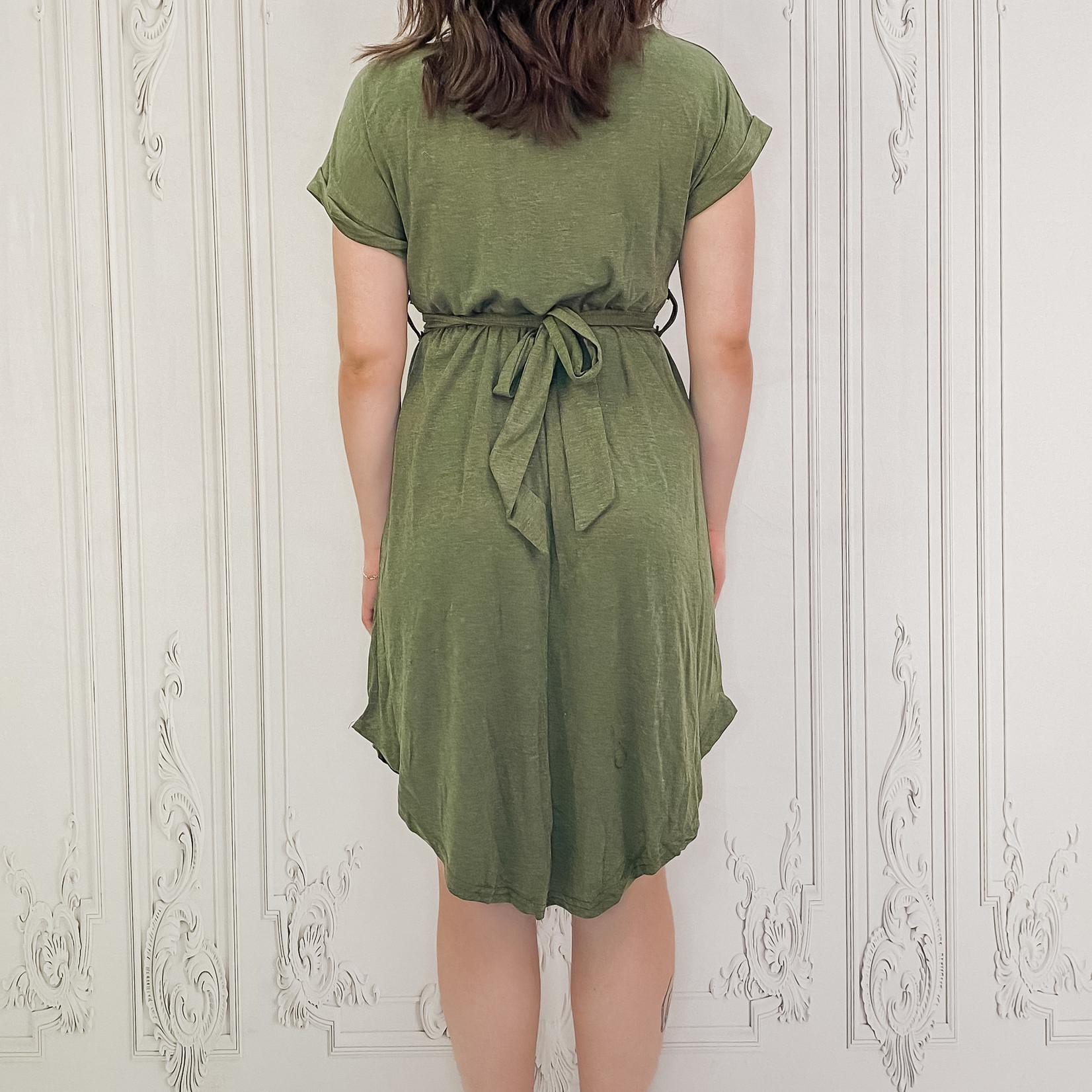 Sylvia cuffed sleeve t-shirt dress