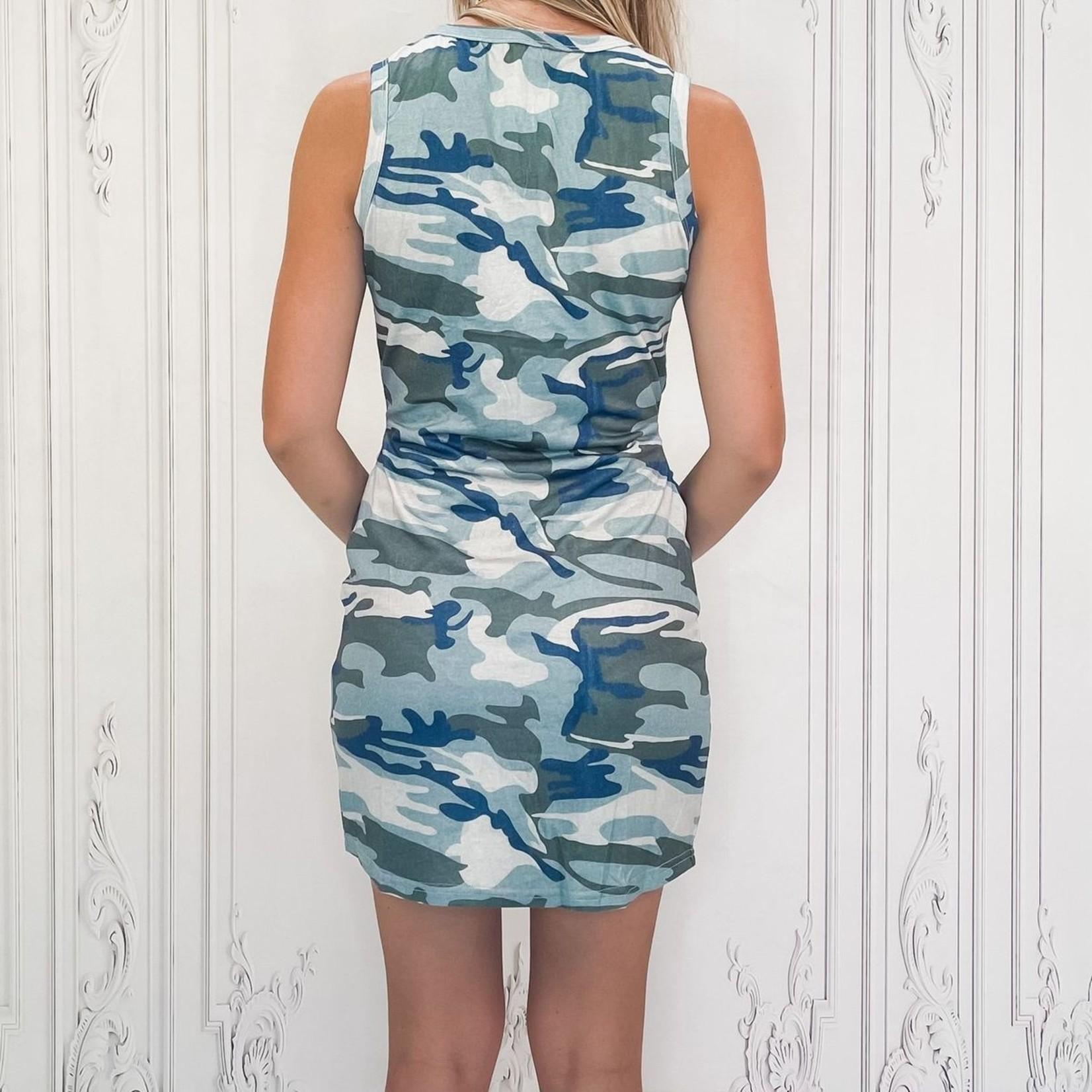 Shera camo mini dress