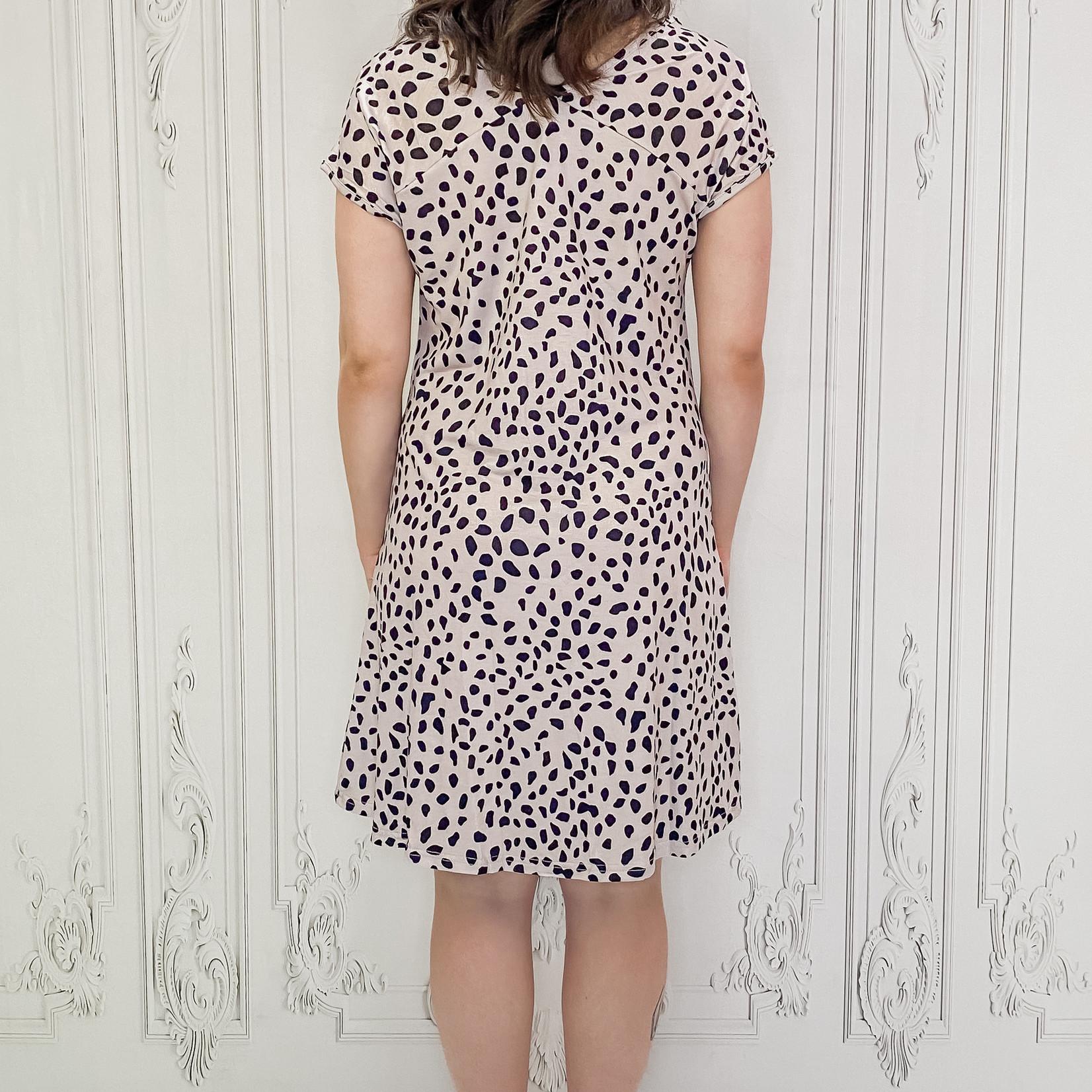 Song cheetah t-shirt dress