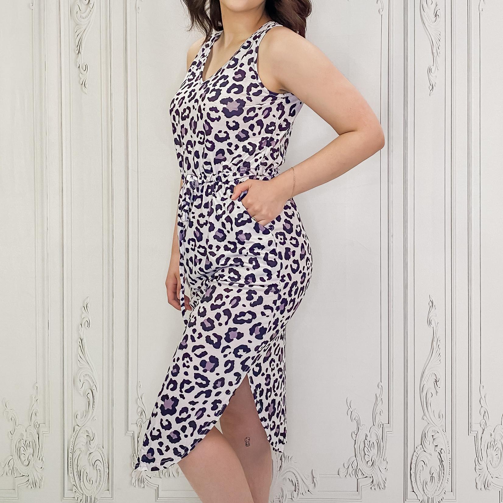 Susie leopard midi dress