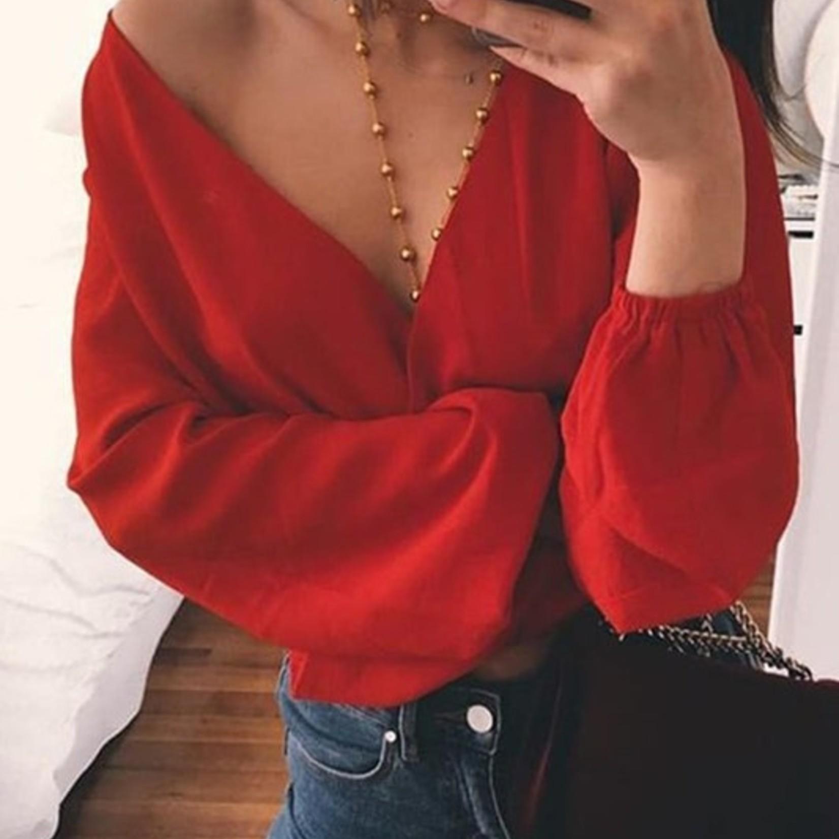 Tivo wrap blouse