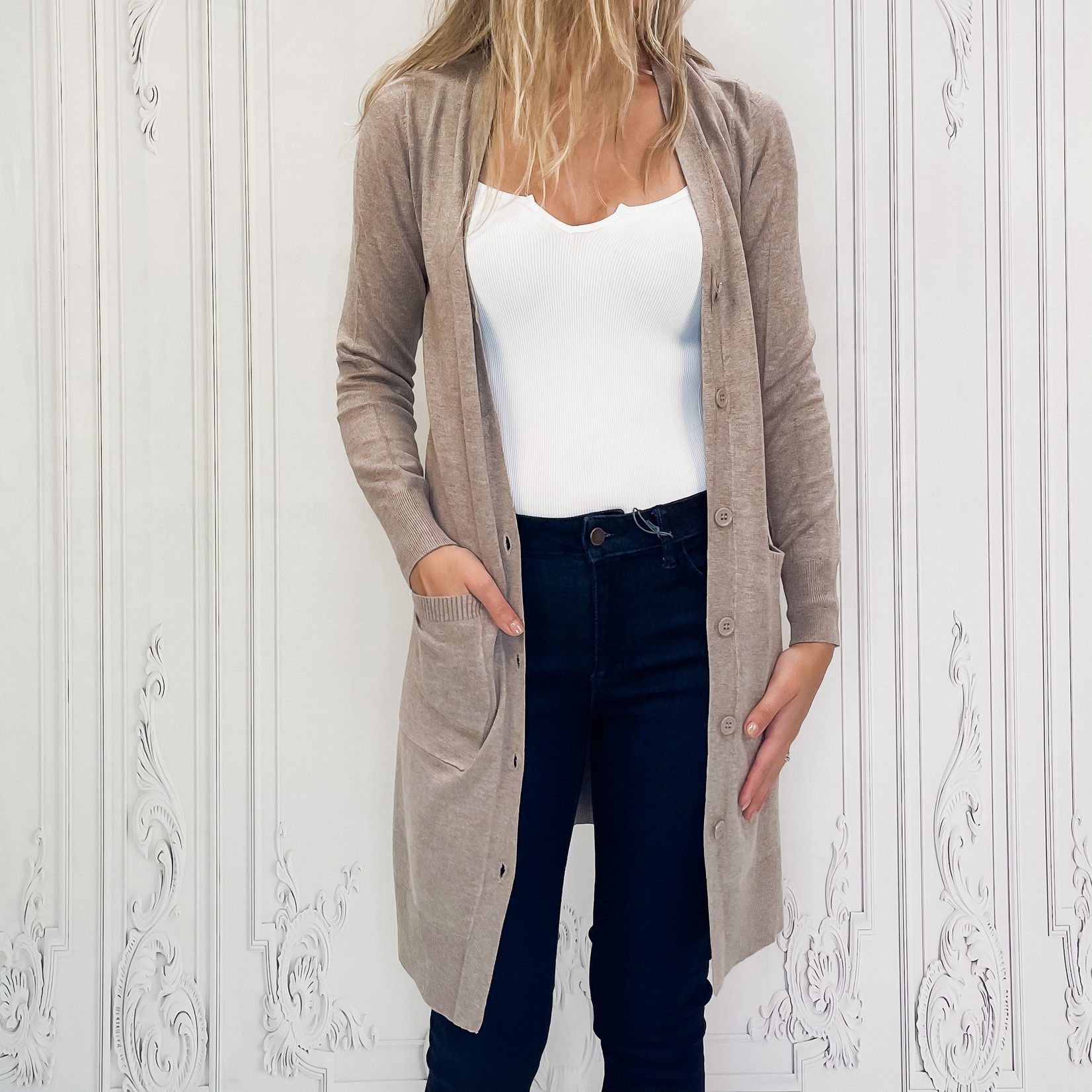 Chelo long button up cardigan