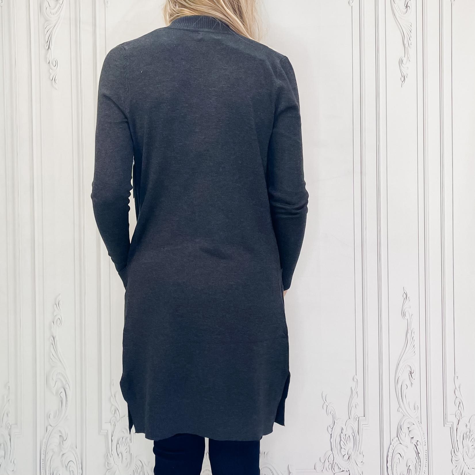 Christine long open pocket cardi