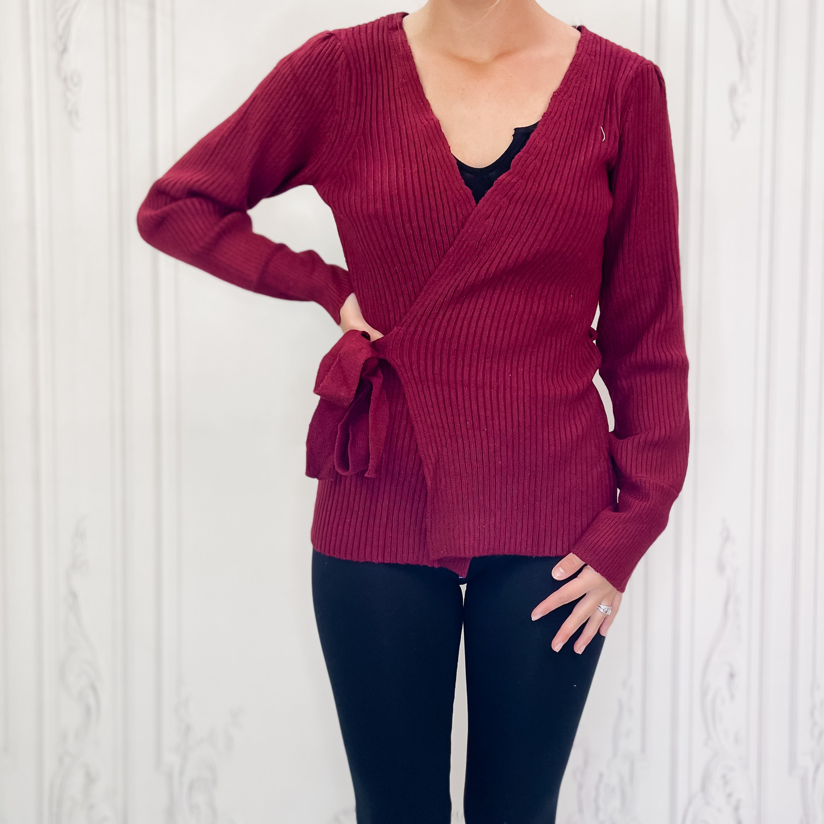 Illia wrap sweater