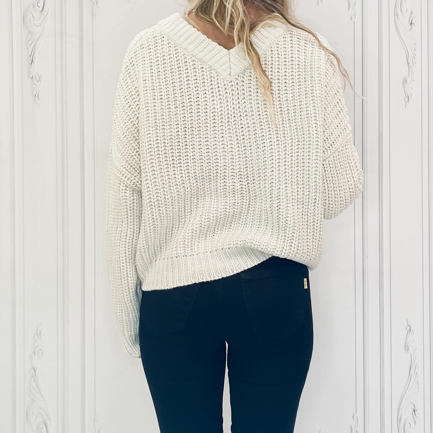 rd style - boxy grandpa sweater