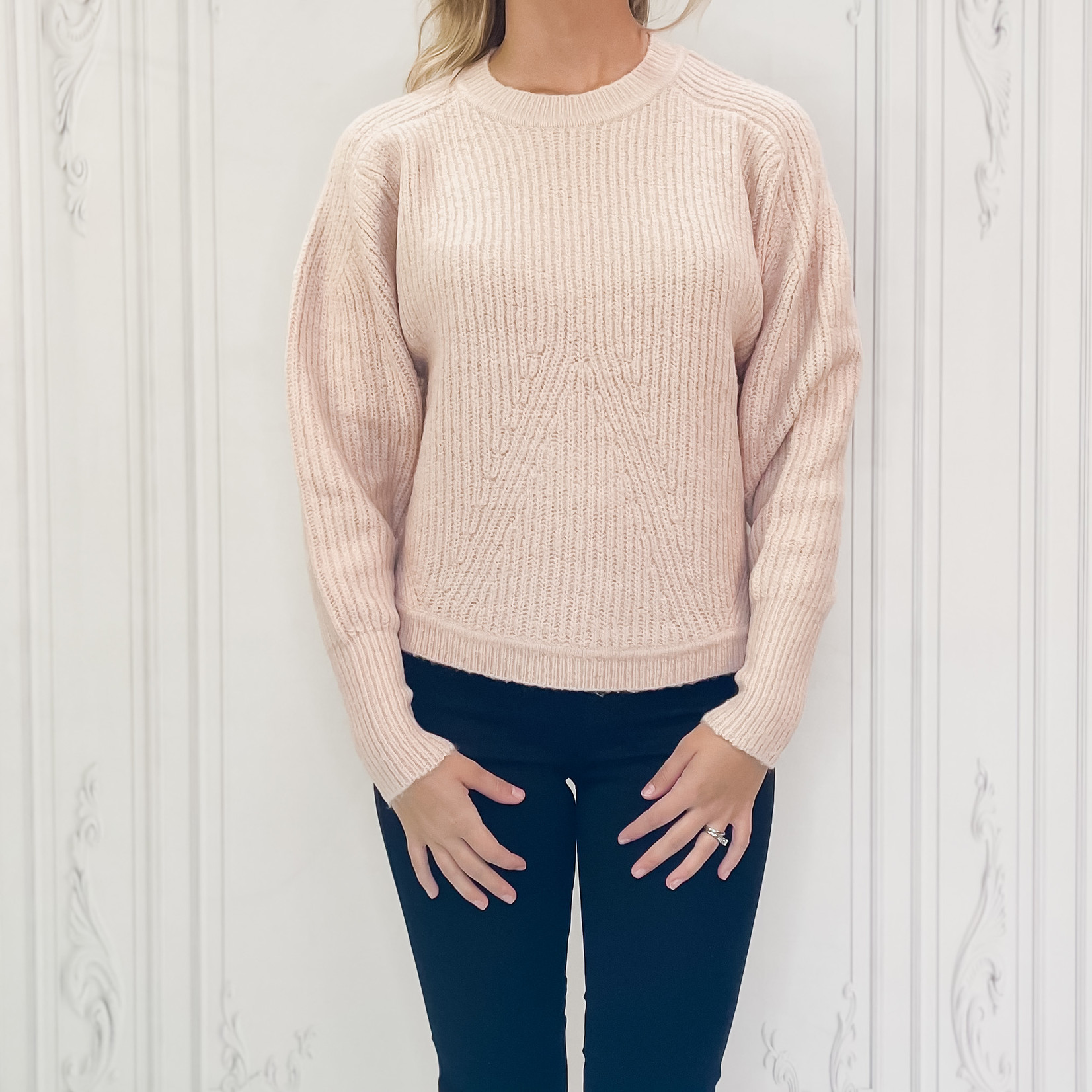 rd style - v pattern ribbed sweater