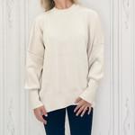apricot - raw seam oversize sweater